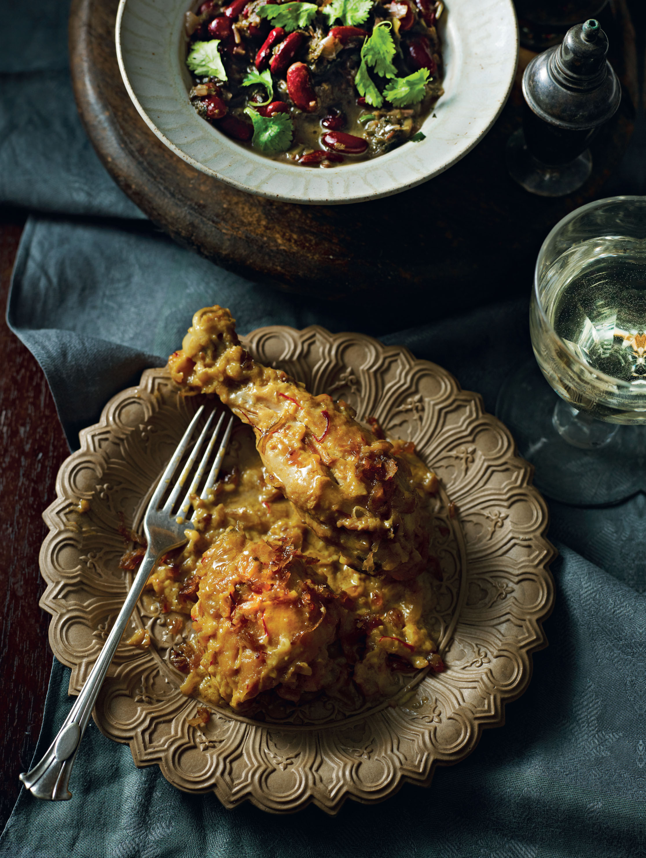 Persian chicken with saffron and cardamom