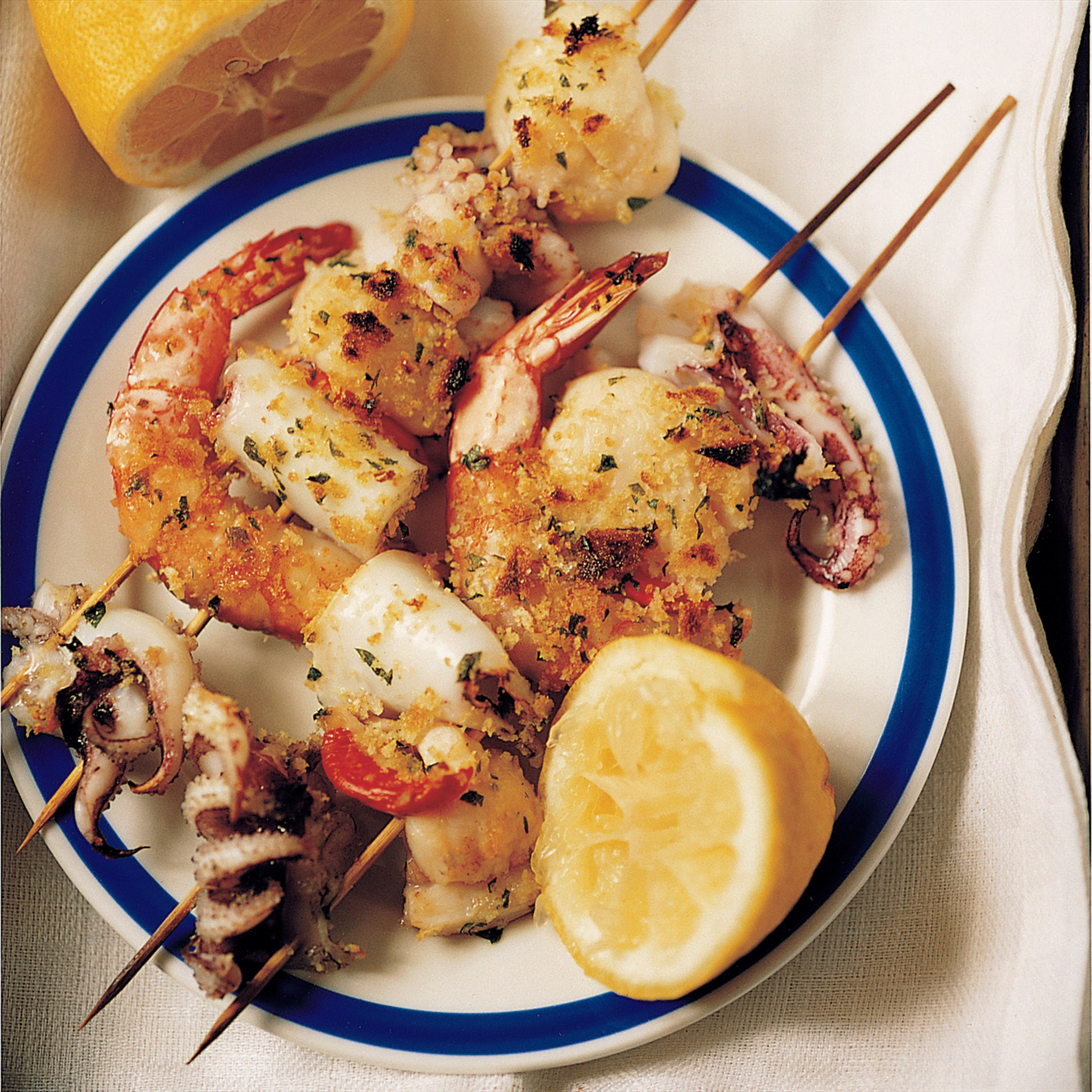 Seafood on a skewer