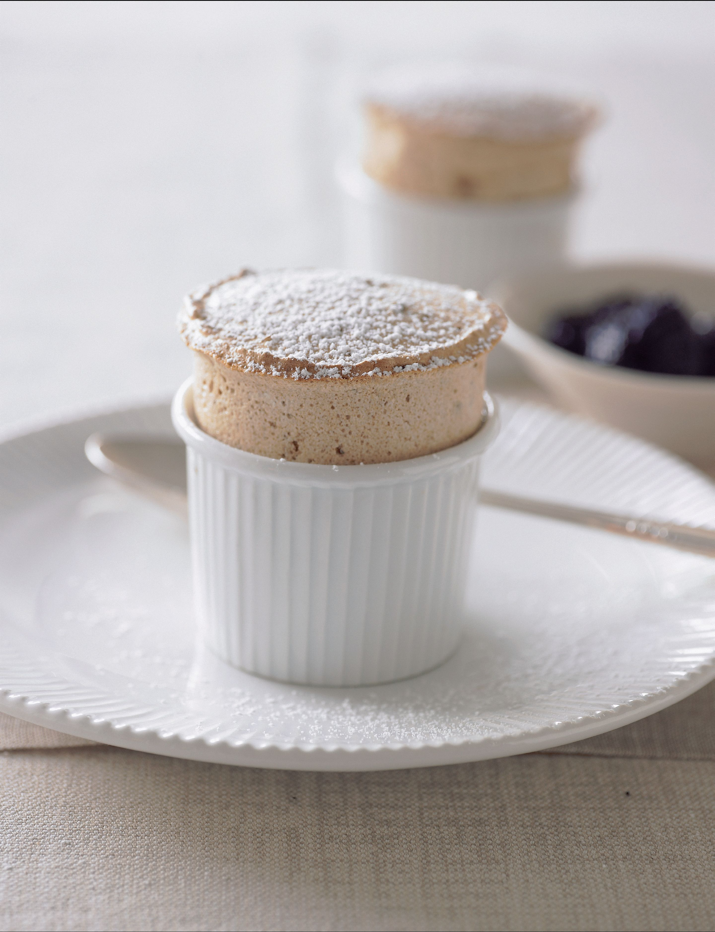 Prune and Armagnac soufflé