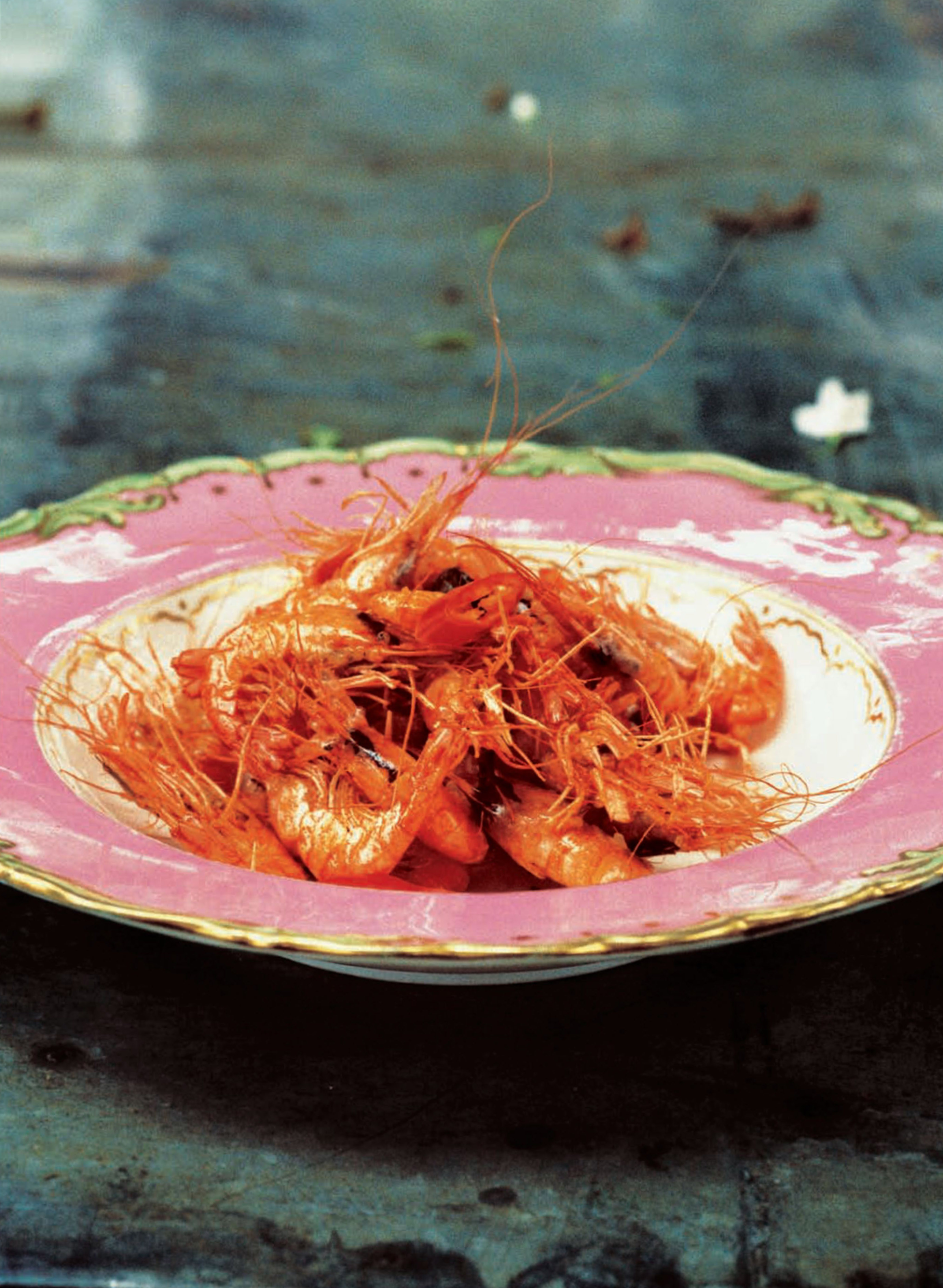 Poole prawns with chilli, salt and lemon