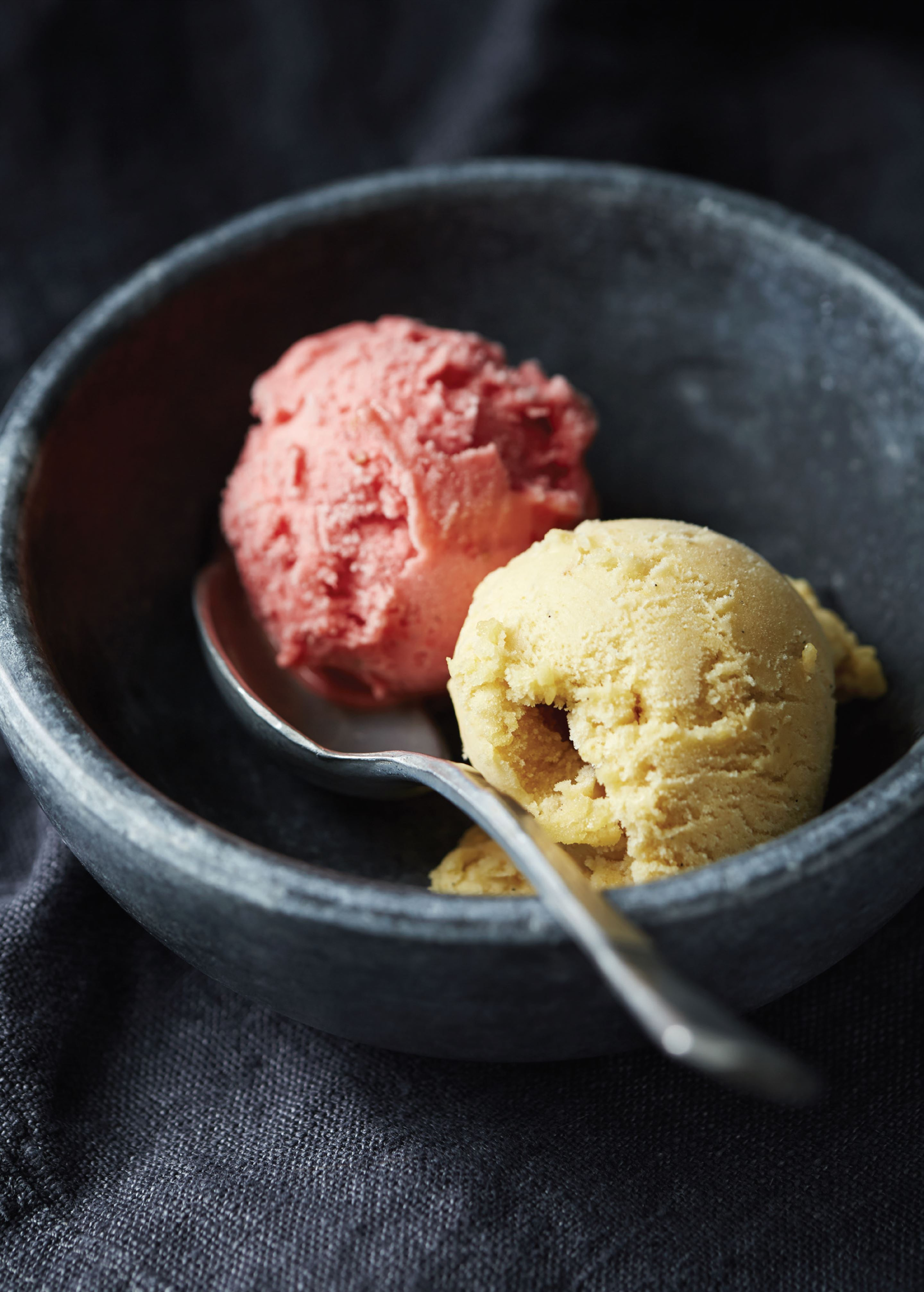 Rhubarb and strawberry sorbet
