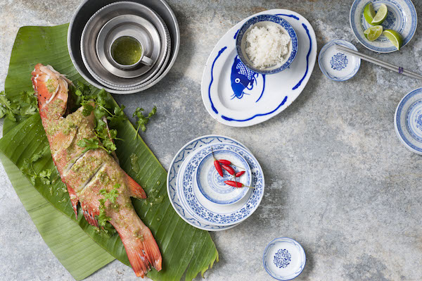 Fish with lime and chillies