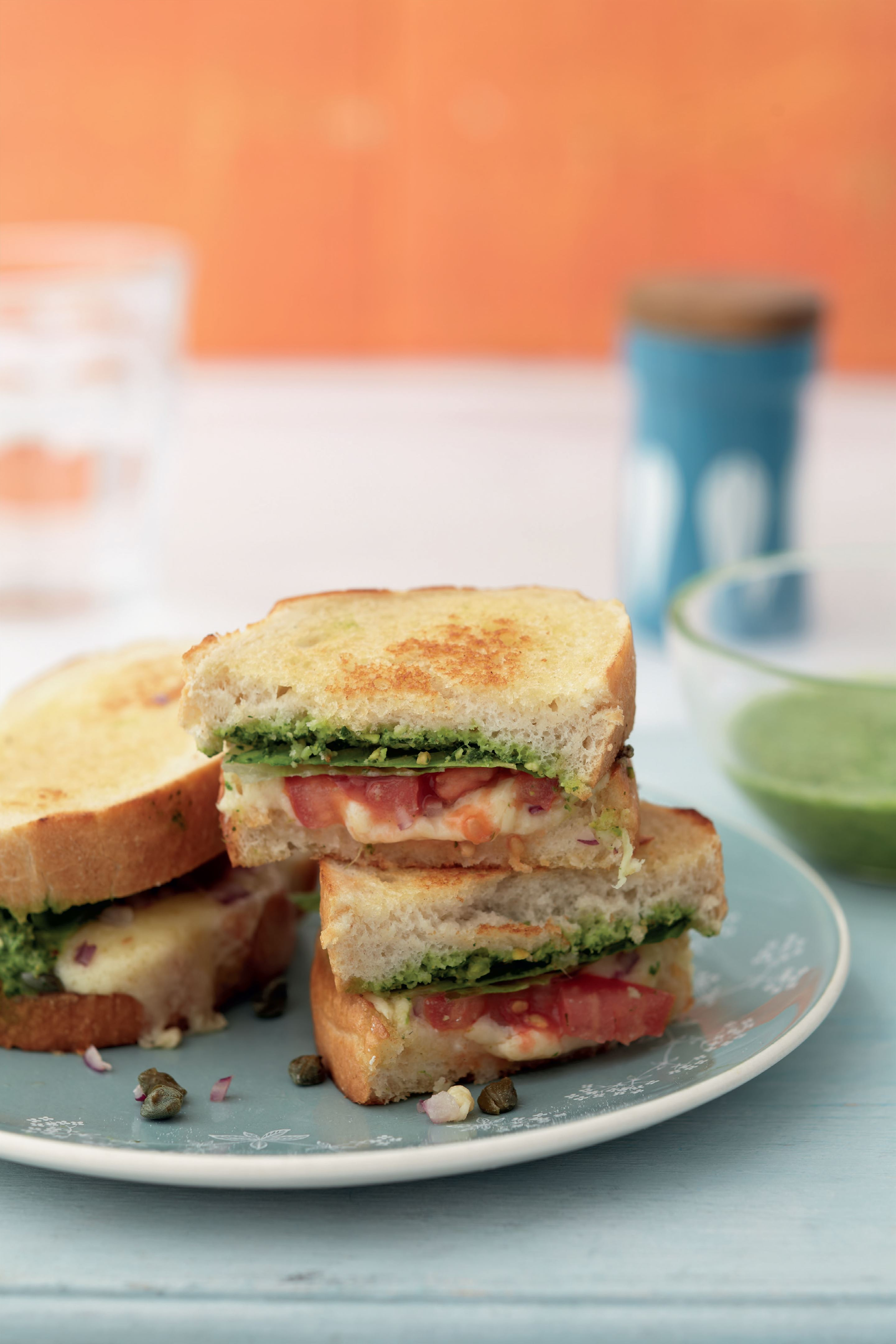 Grilled cheese and Indian chutney