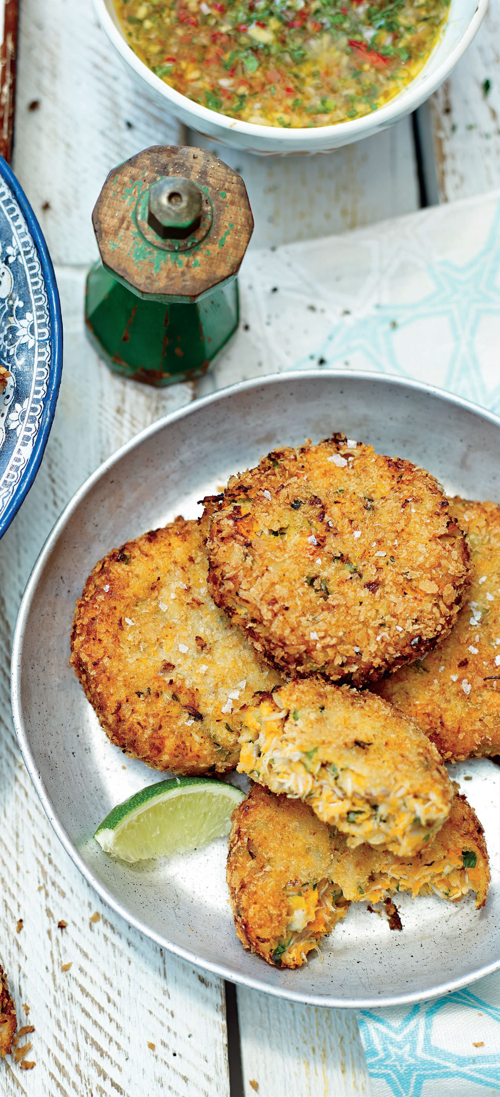 Sweet potato crab cakes