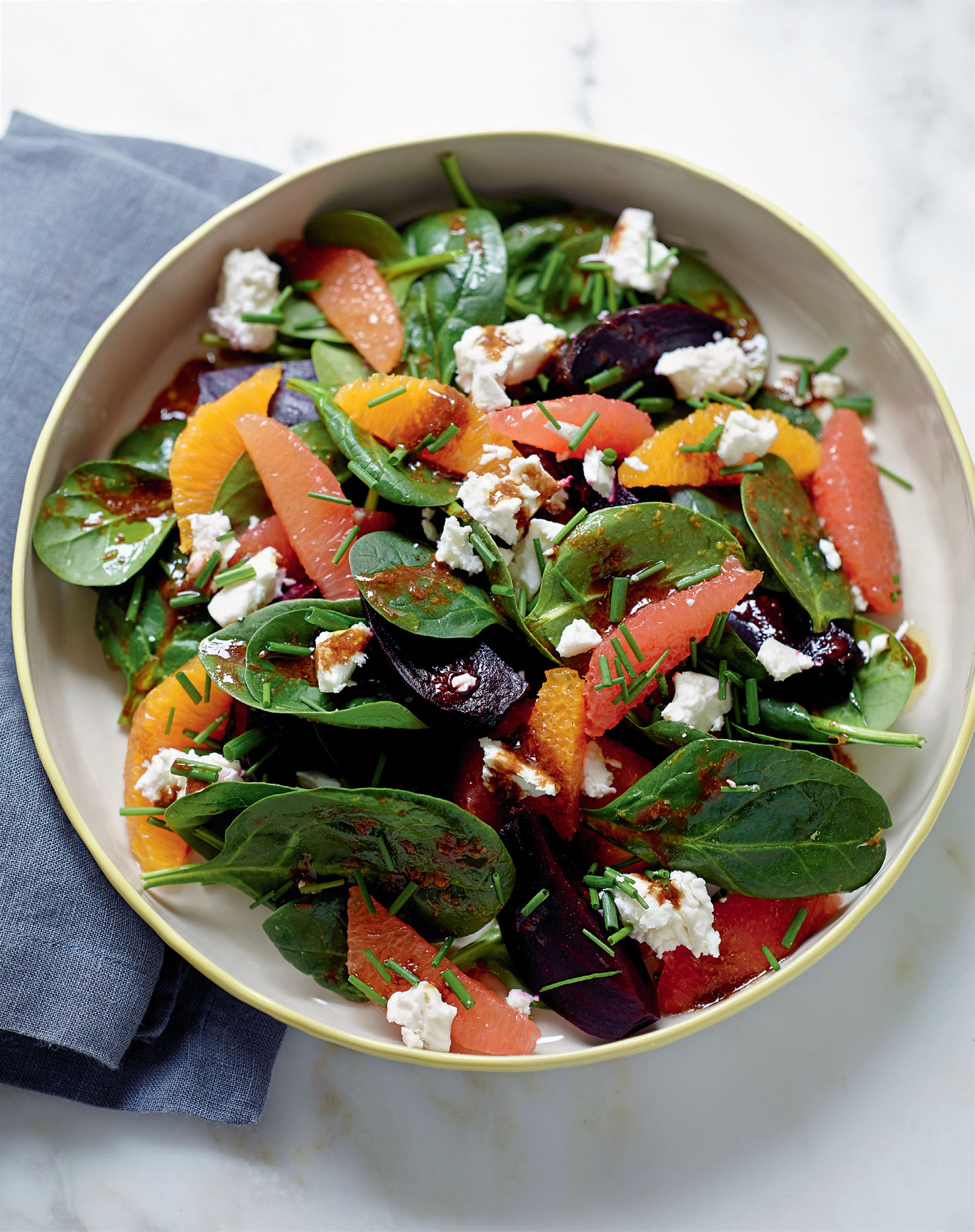 Roasted balsamic beetroot with orange and feta