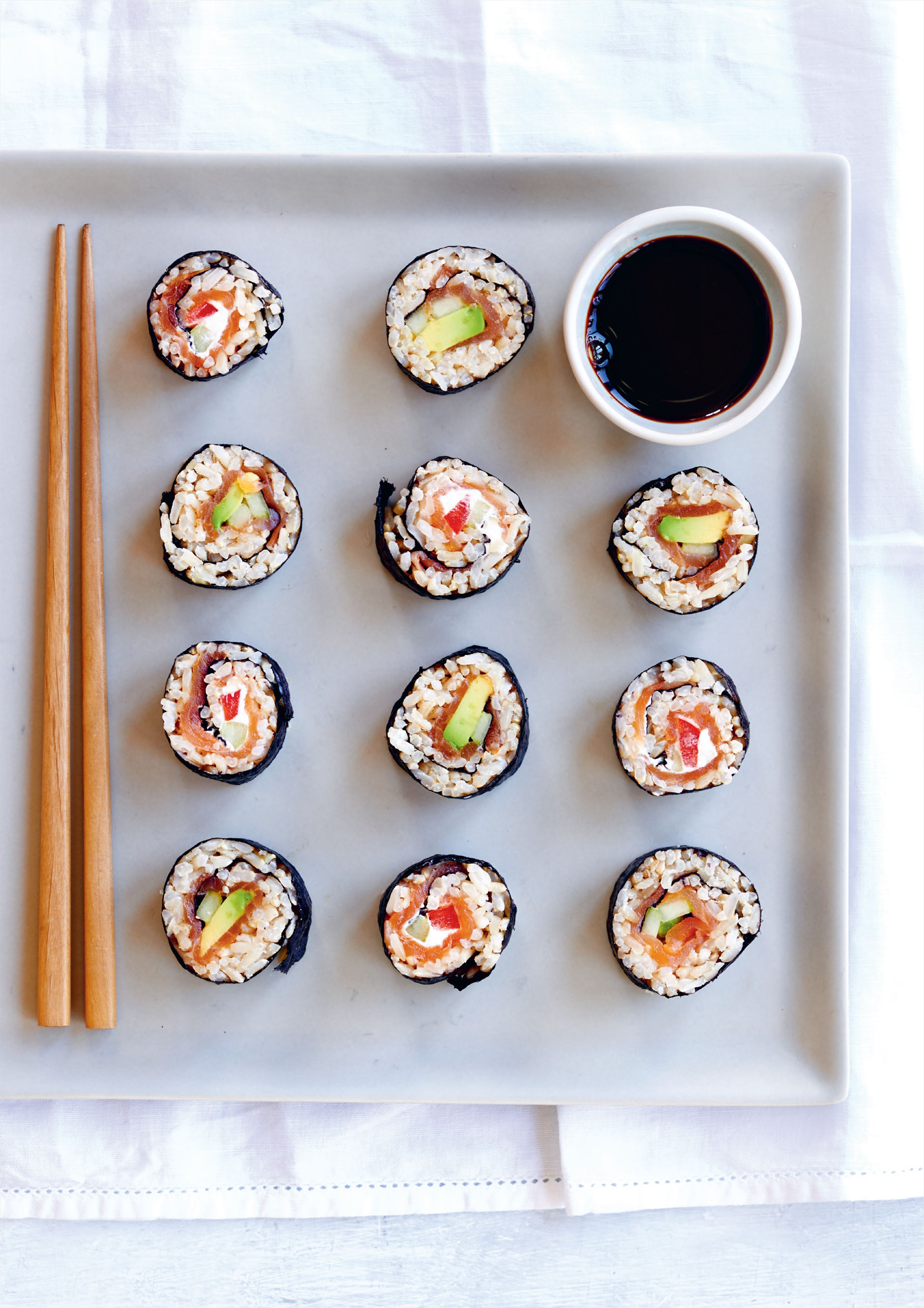 Brown rice or quinoa sushi
