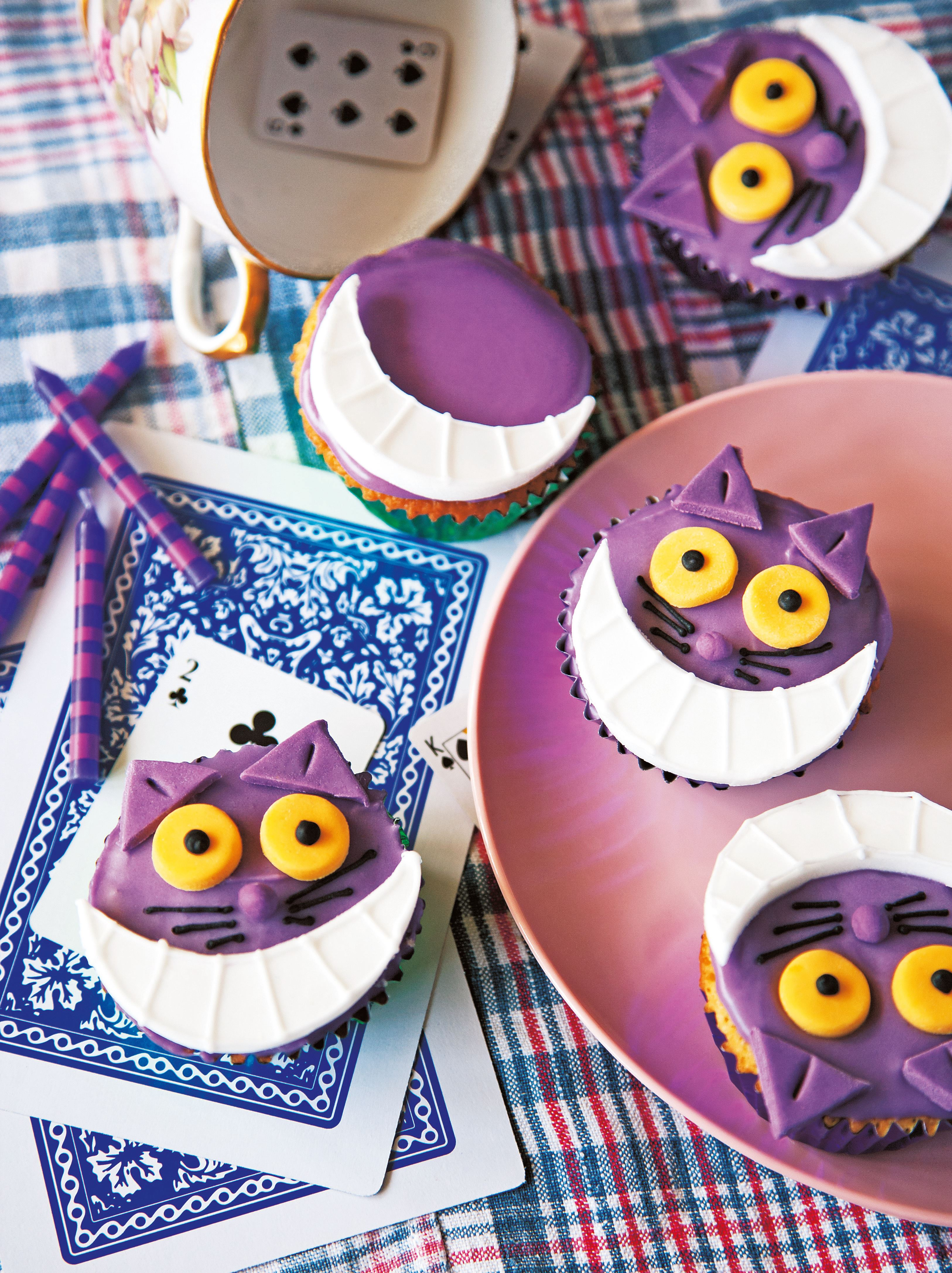 Cheshire cat fairy cakes