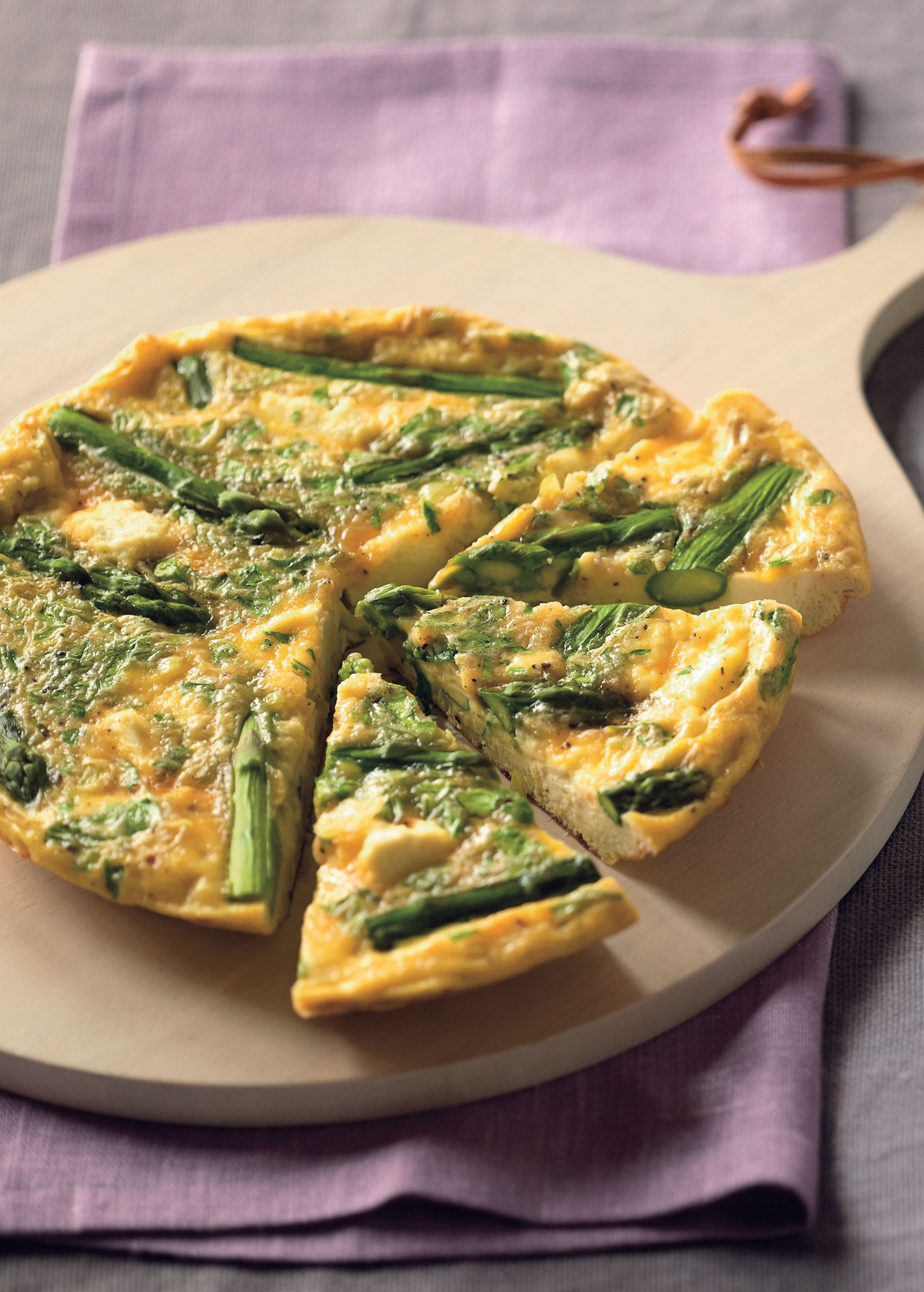 Asparagus and ricotta frittata