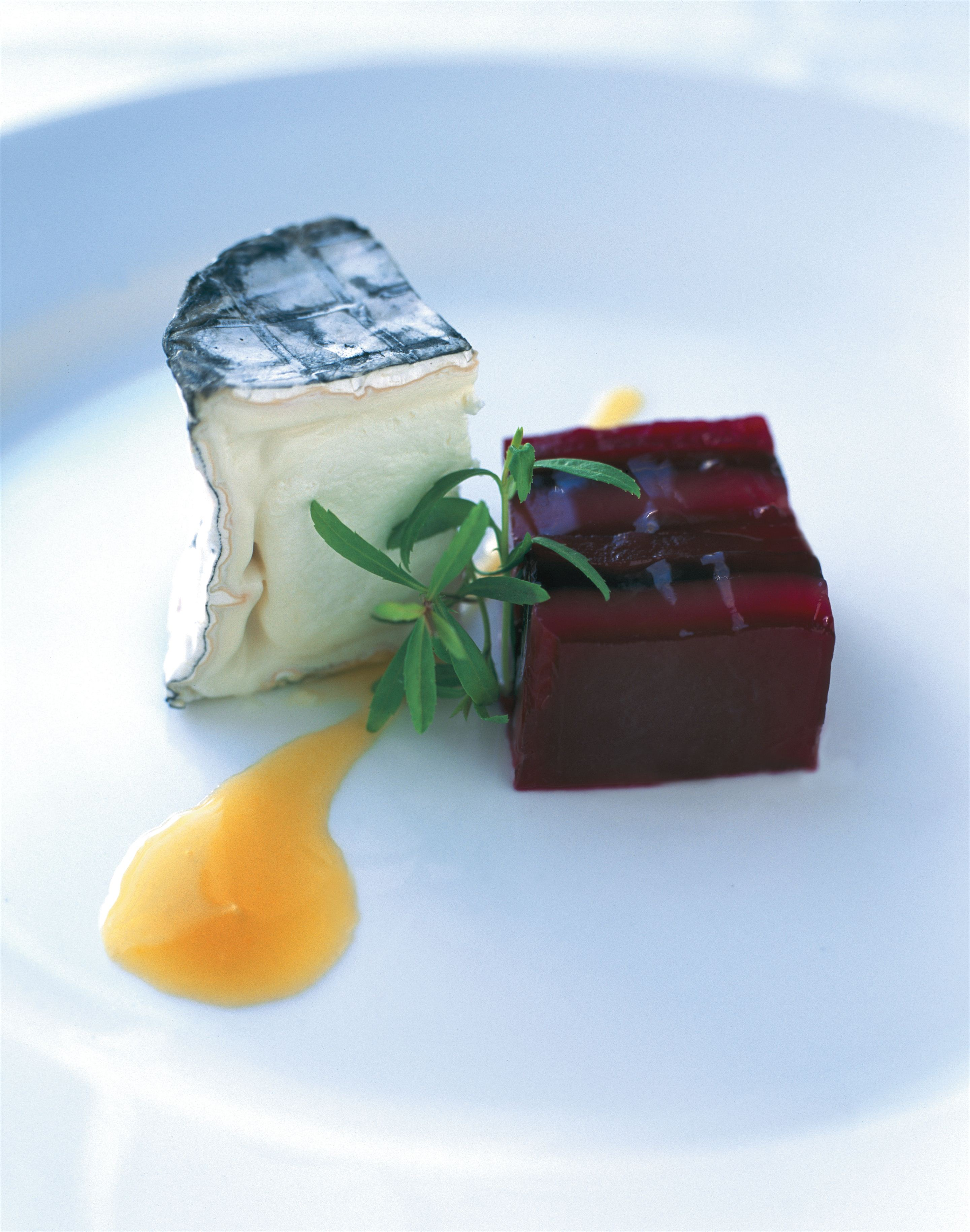 Terrine of beetroot with Edith's ash and baby tarragon