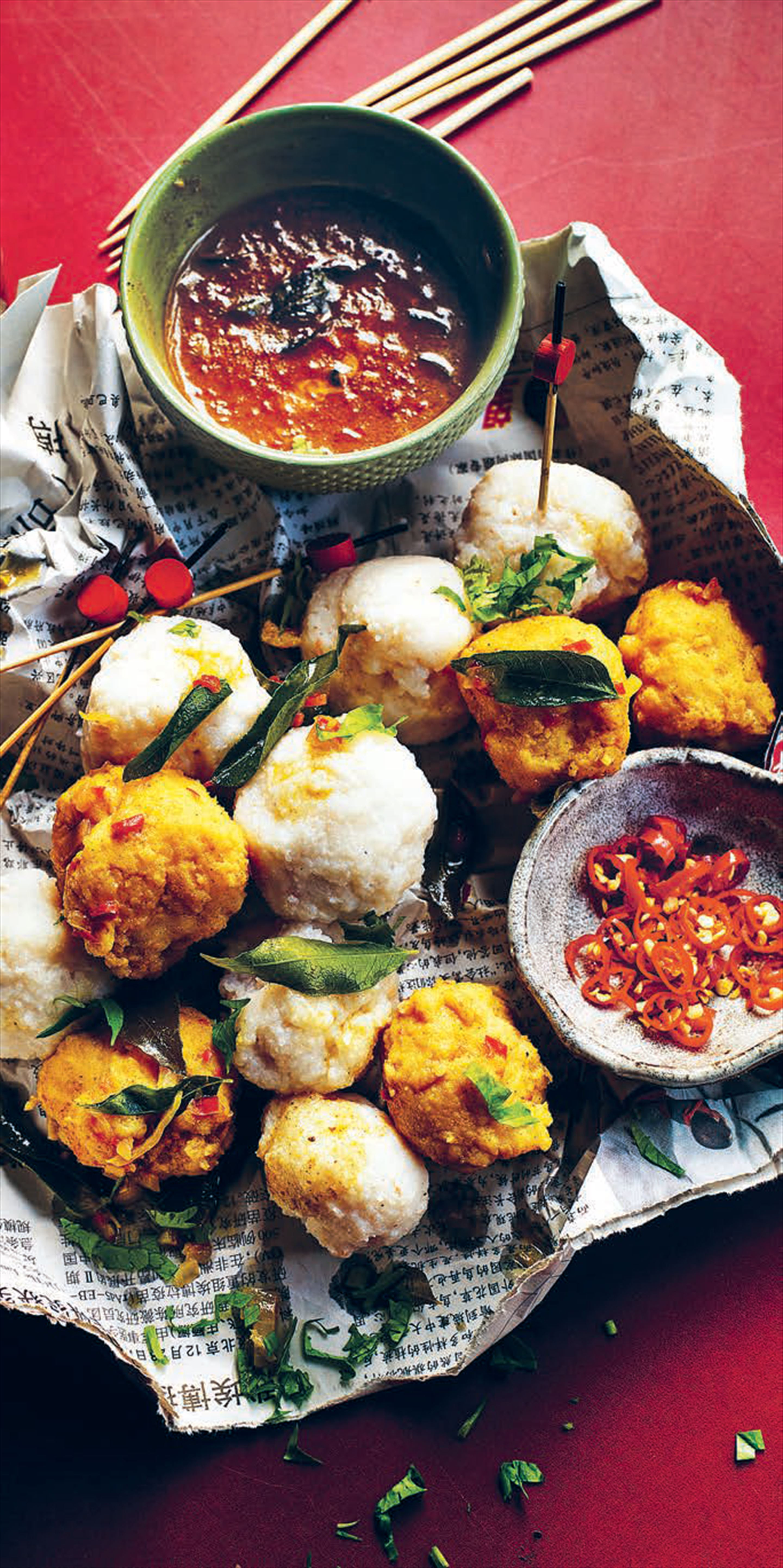 Hong kong classic curried fish balls