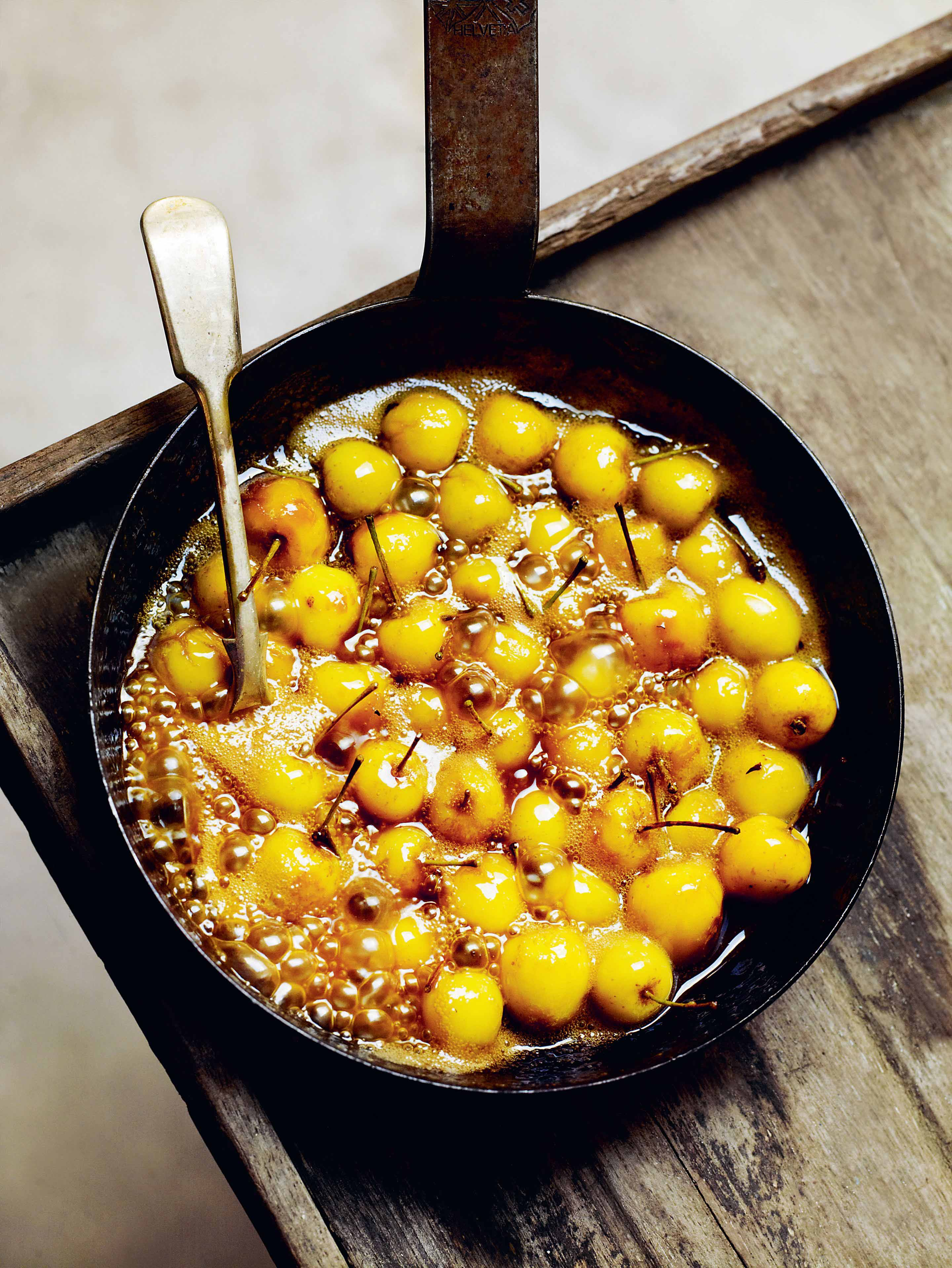 Crab apples in brown sugar & butter