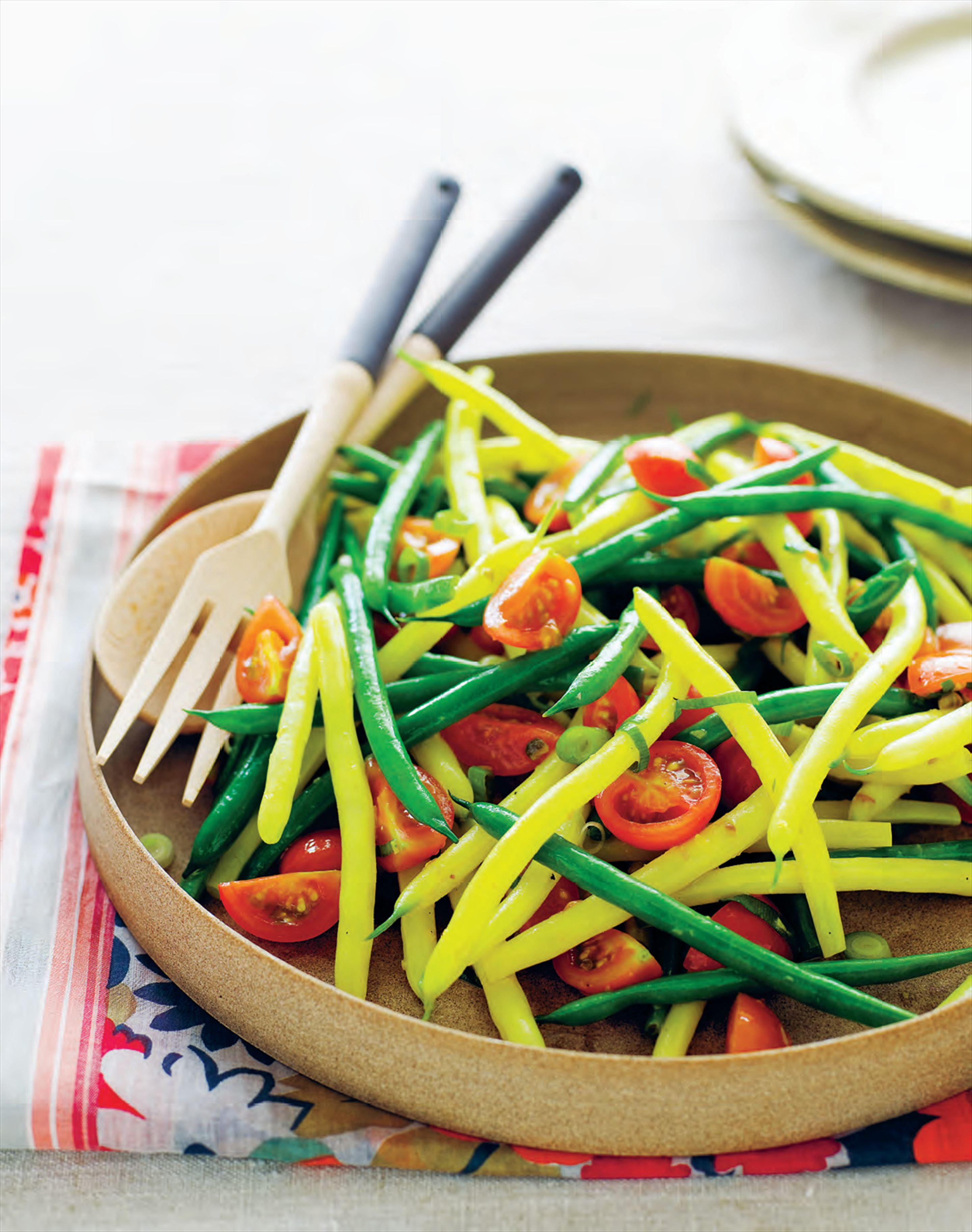 Green and yellow bean salad