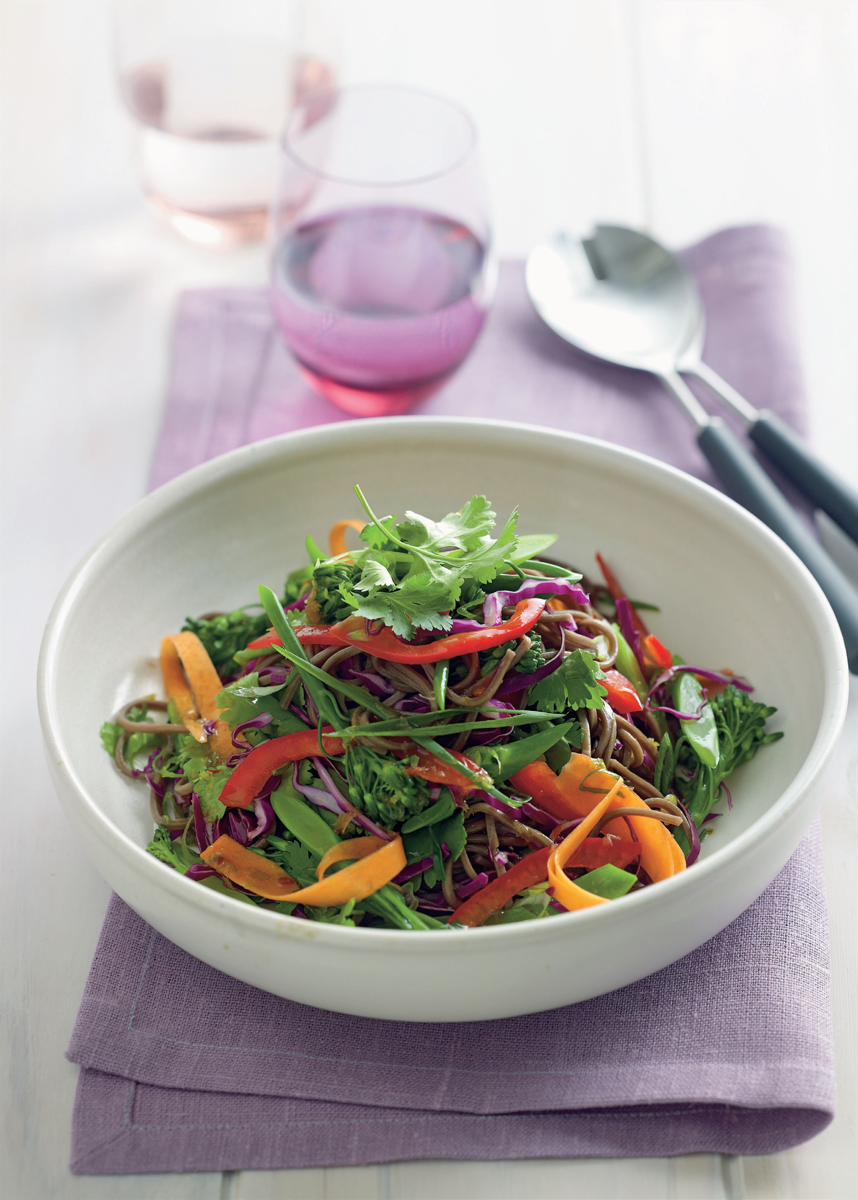 Asian vegetable and soba noodle salad