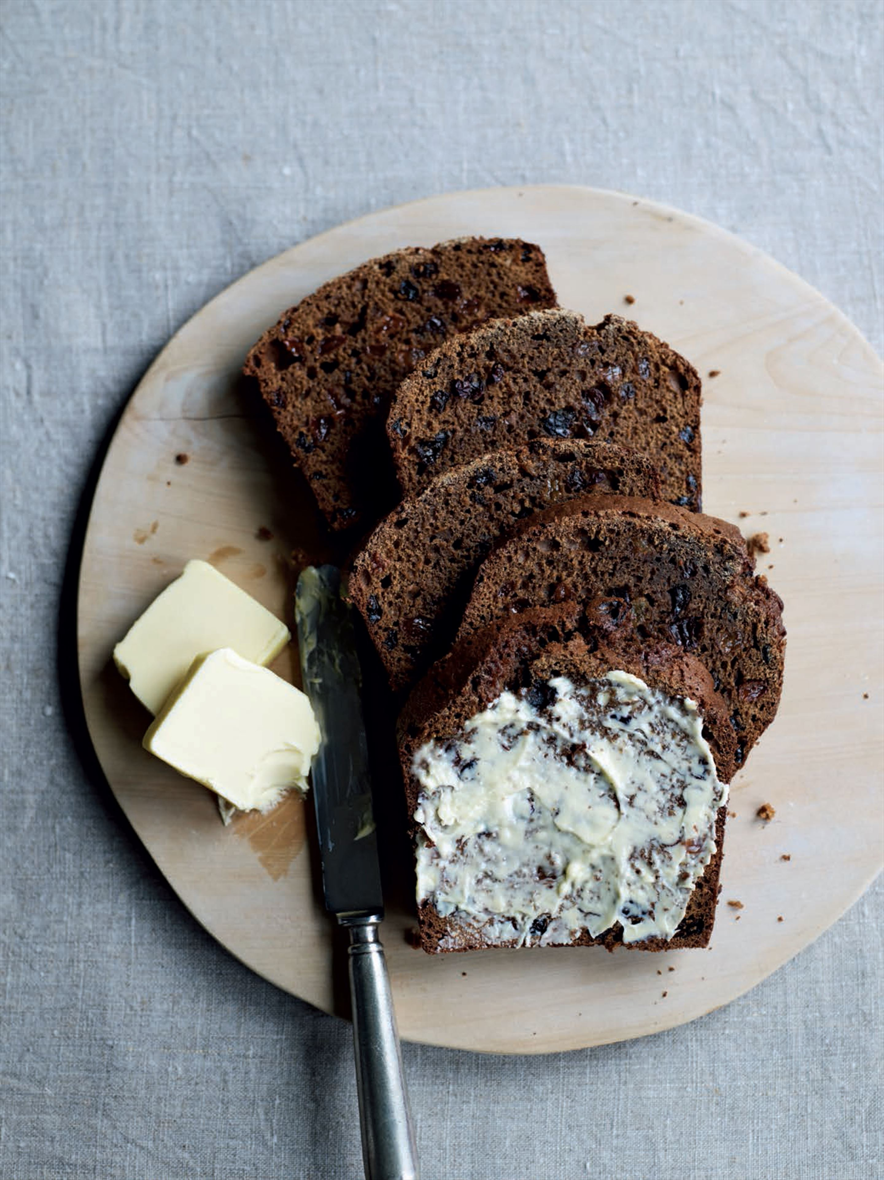 Rich malted fruit loaf