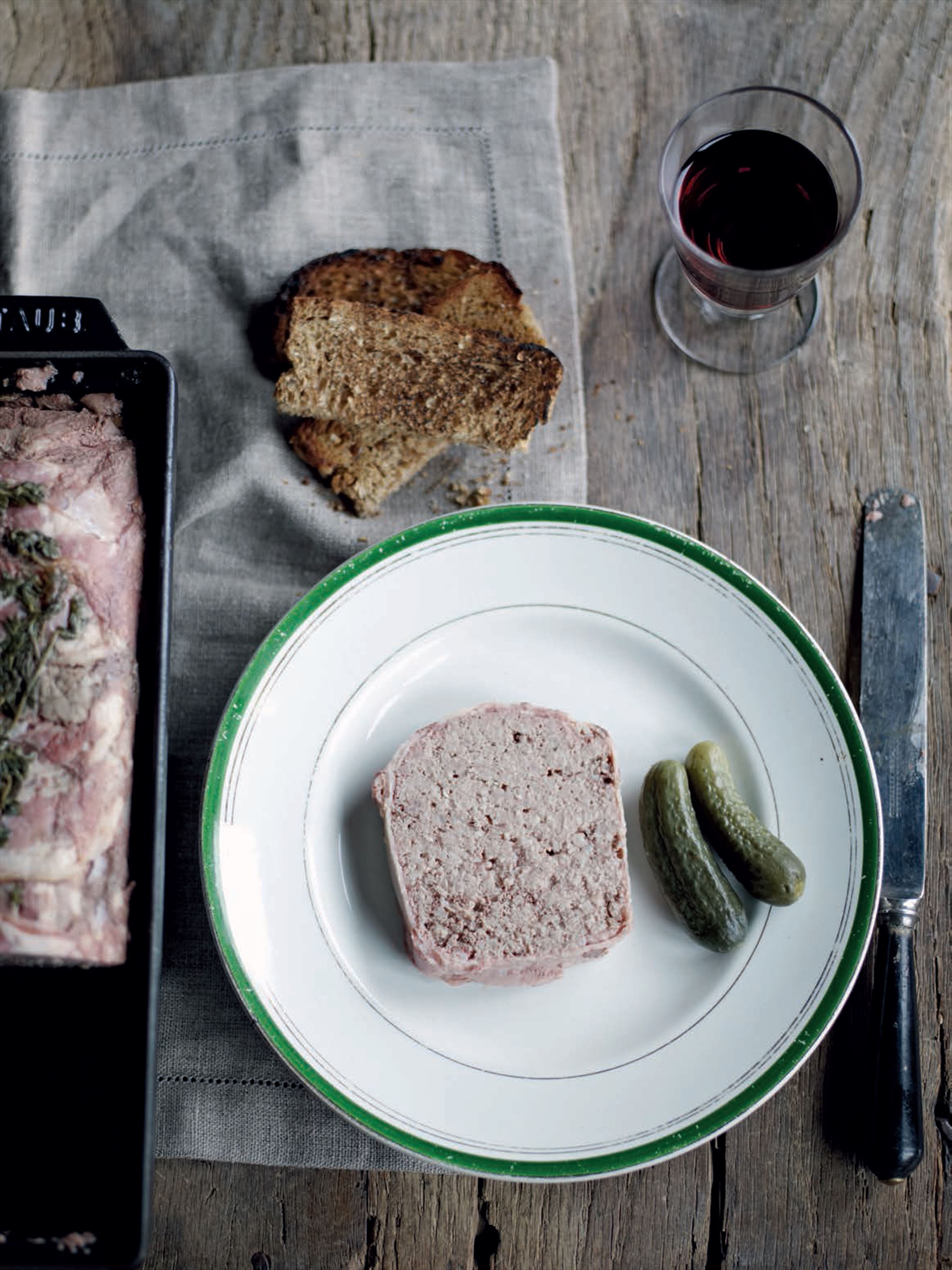 Pork and armagnac terrine
