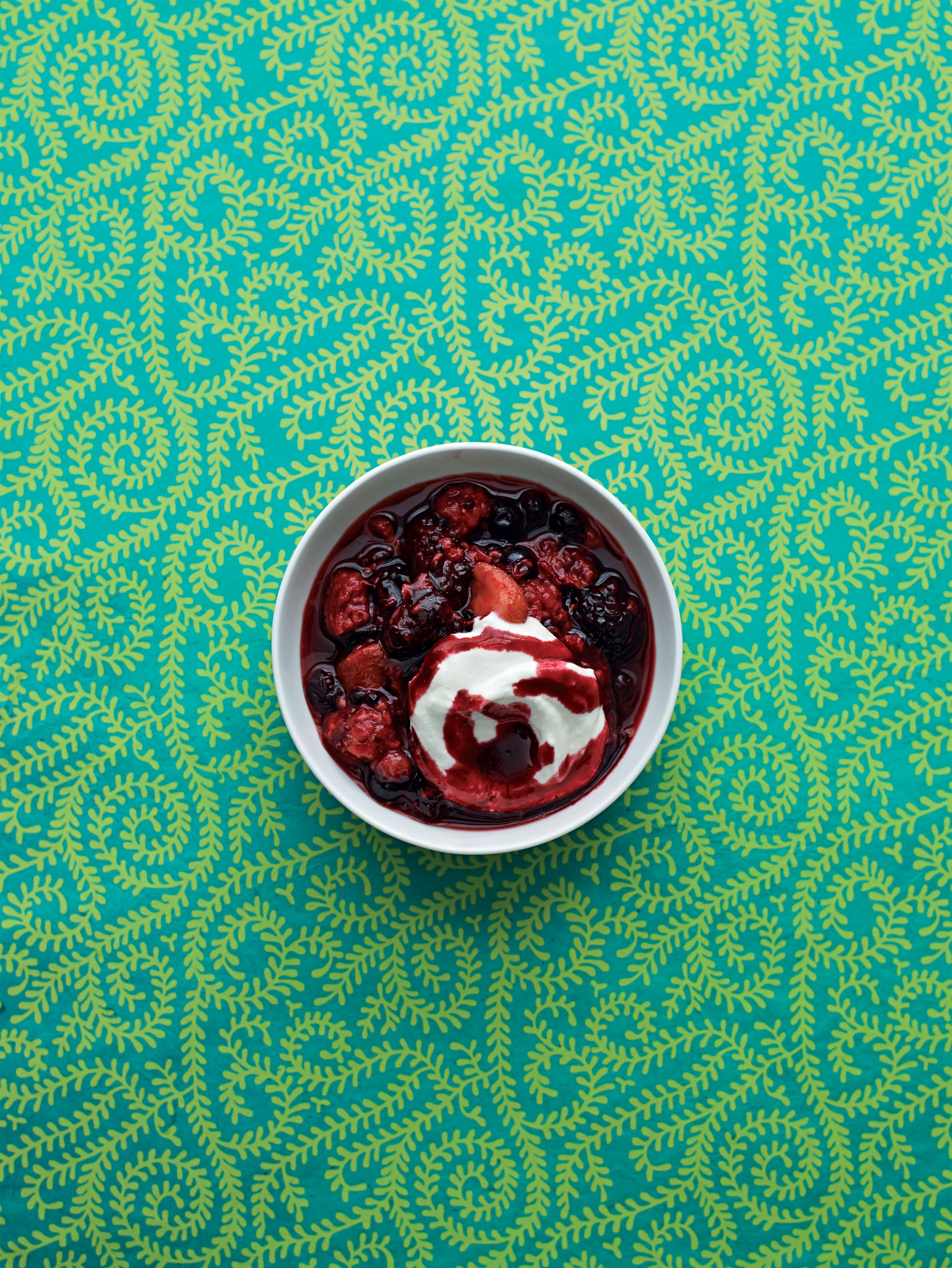 Summer berry compote with Greek yogurt