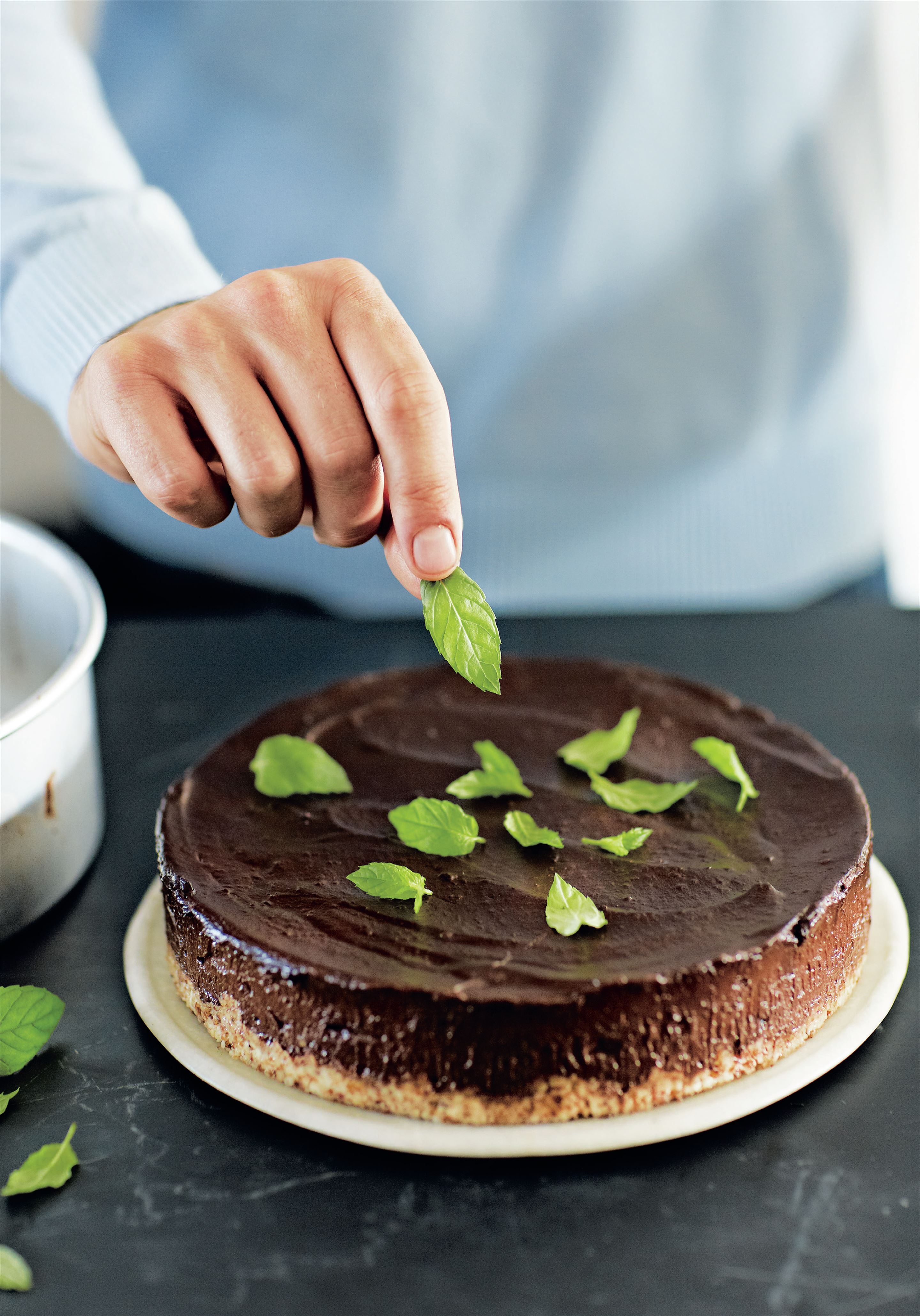 Mint chocolate no-cheese cake