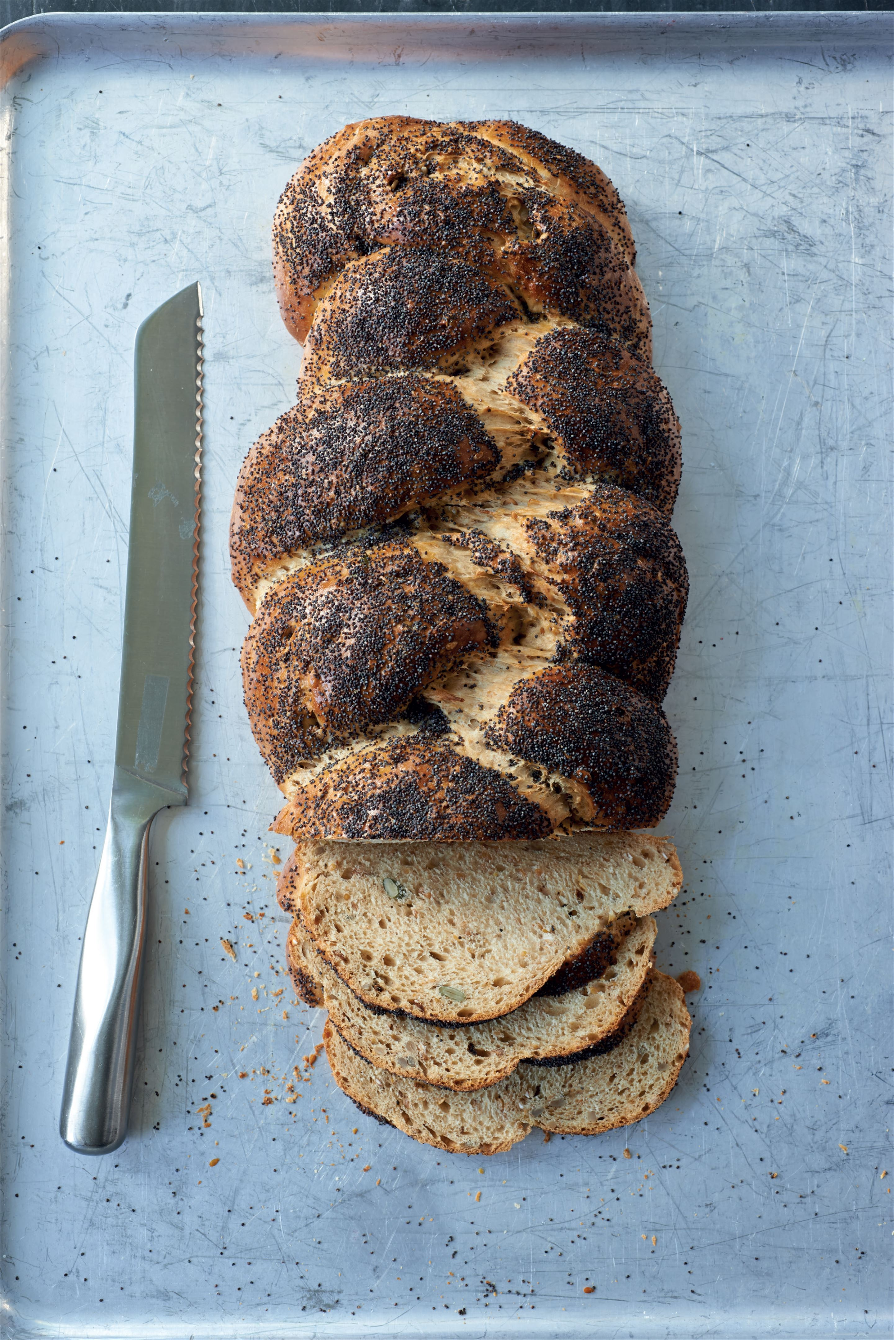 Crunchy seeded granary plait