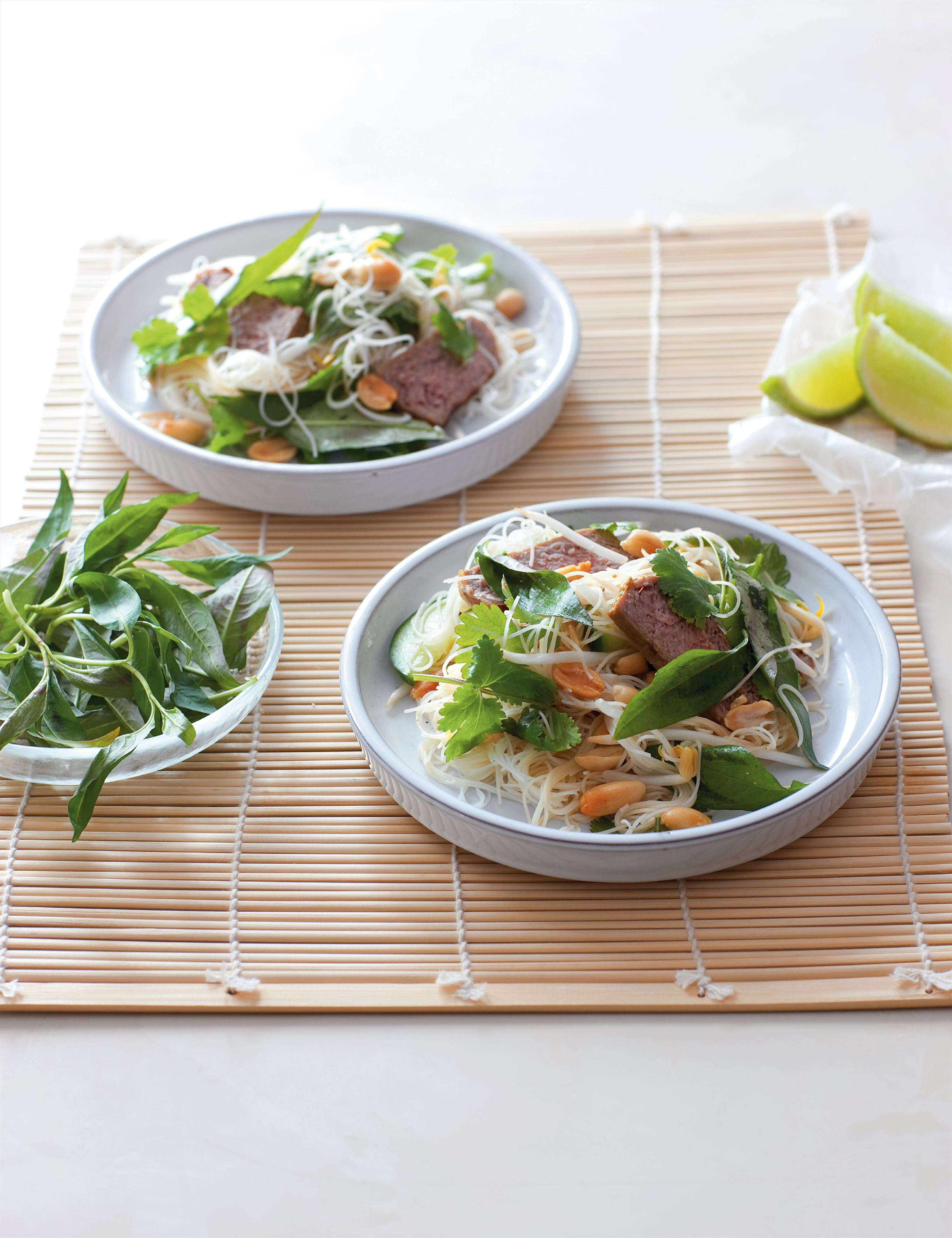 Vietnamese grilled beef and noodle salad
