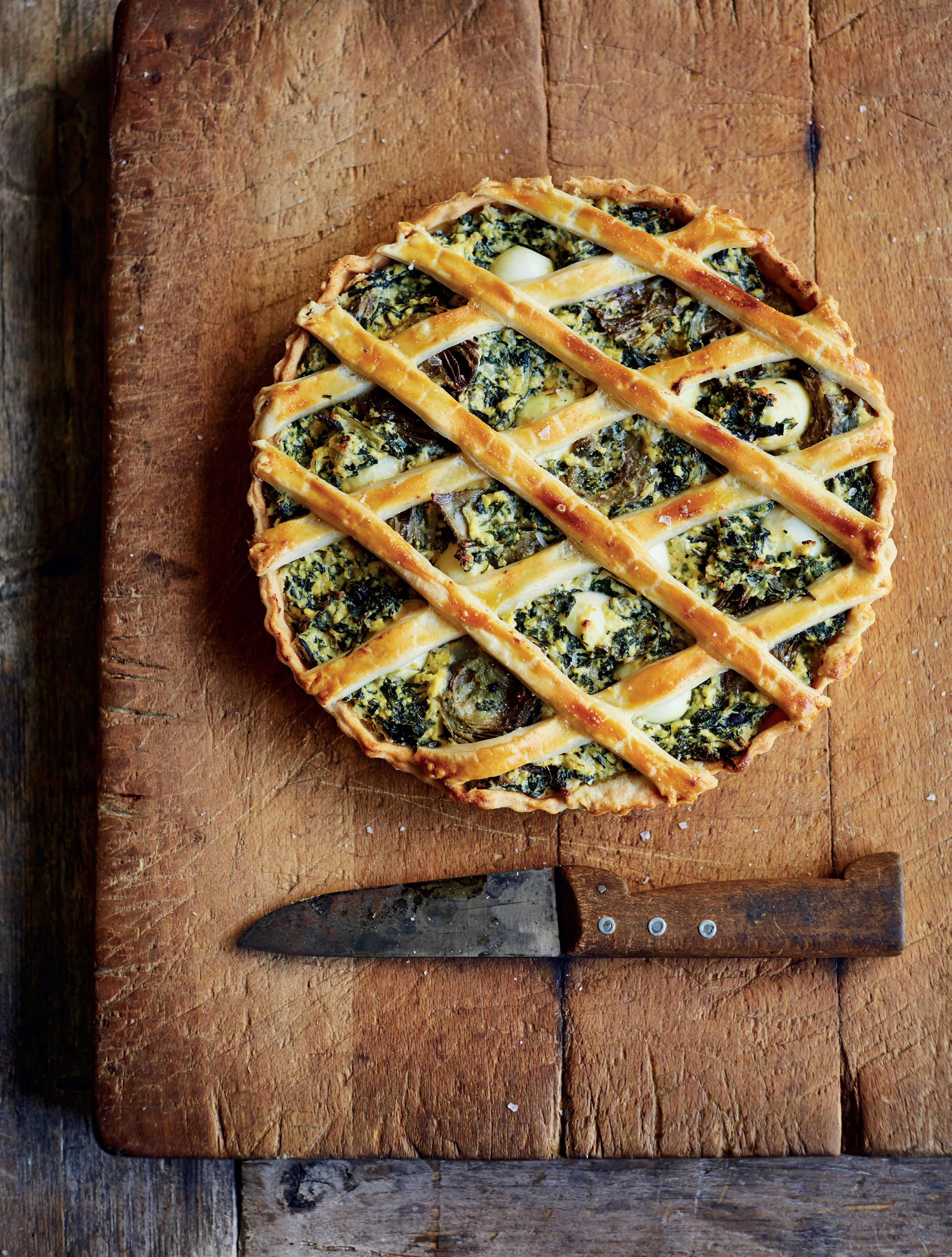 Swiss Chard and Artichoke Tart