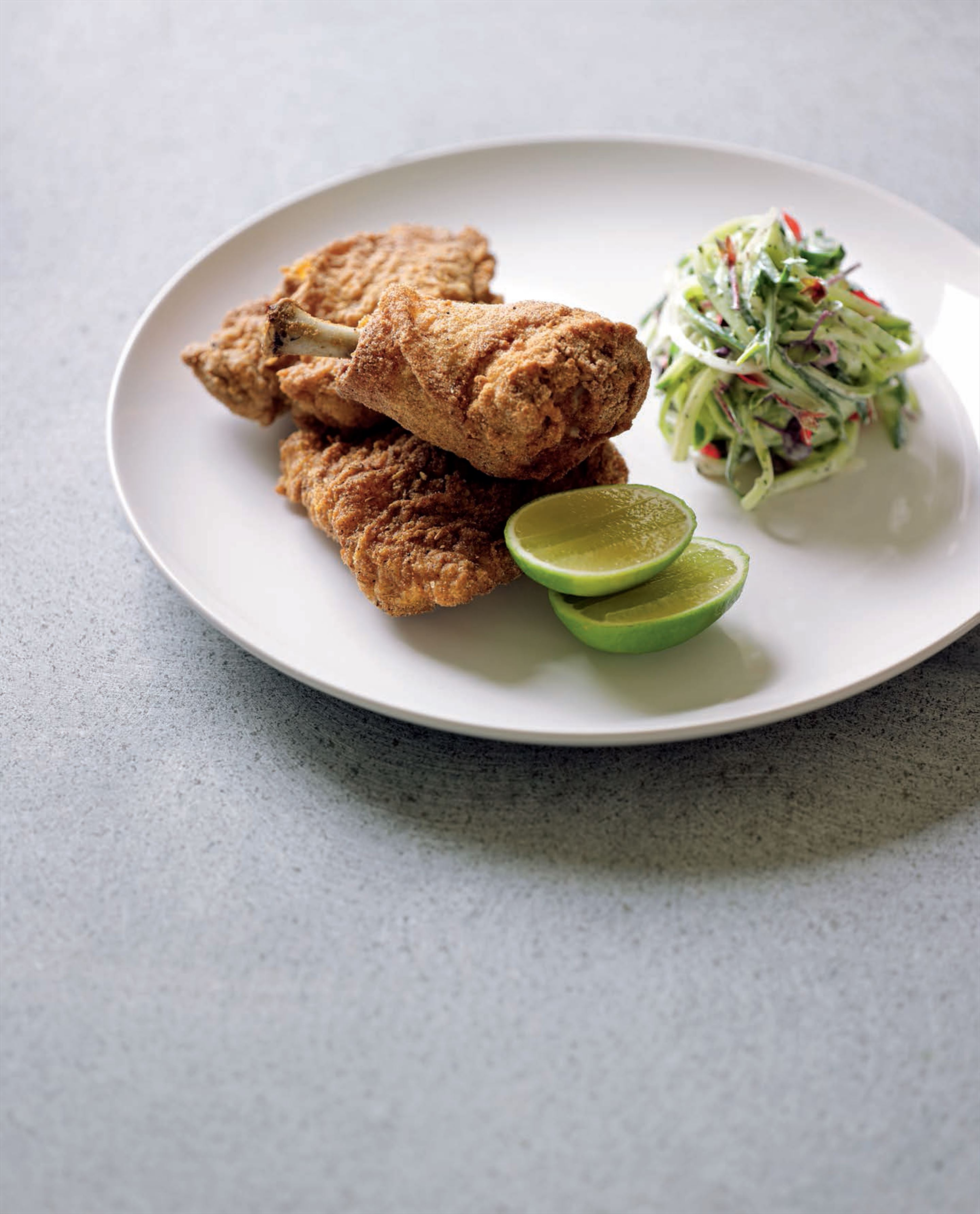 Southern-fried chicken with Eastern spices