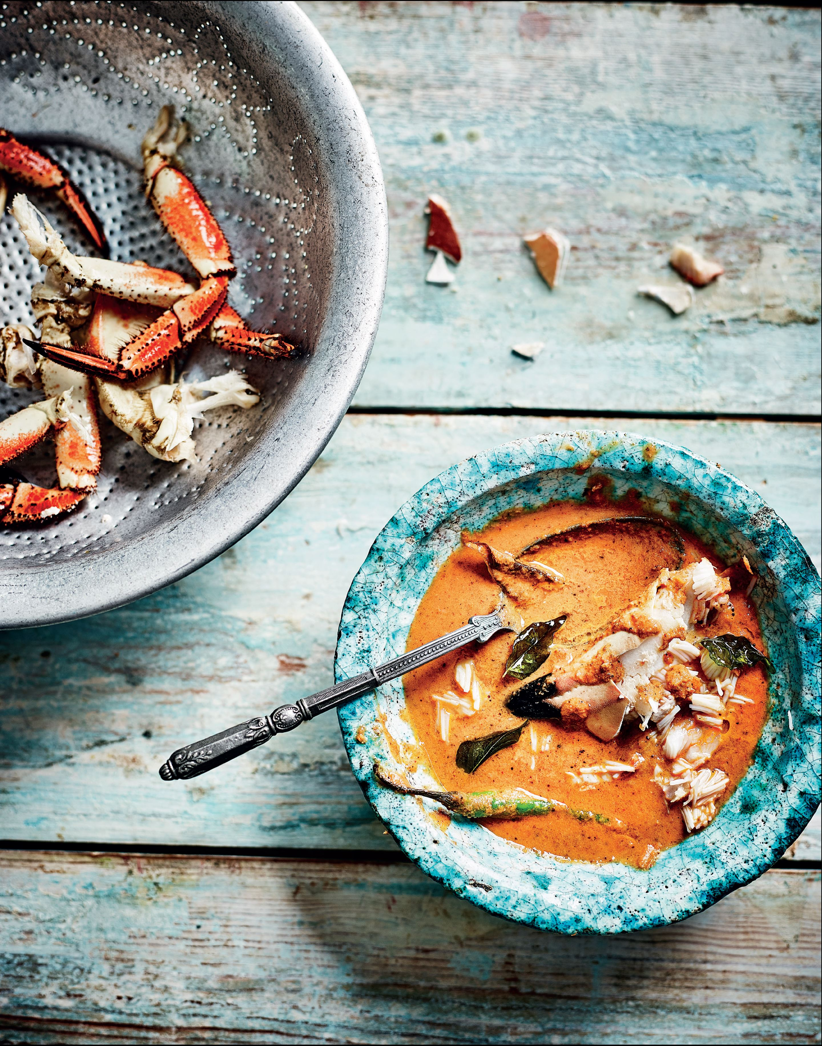 Coastal crab and coconut curry