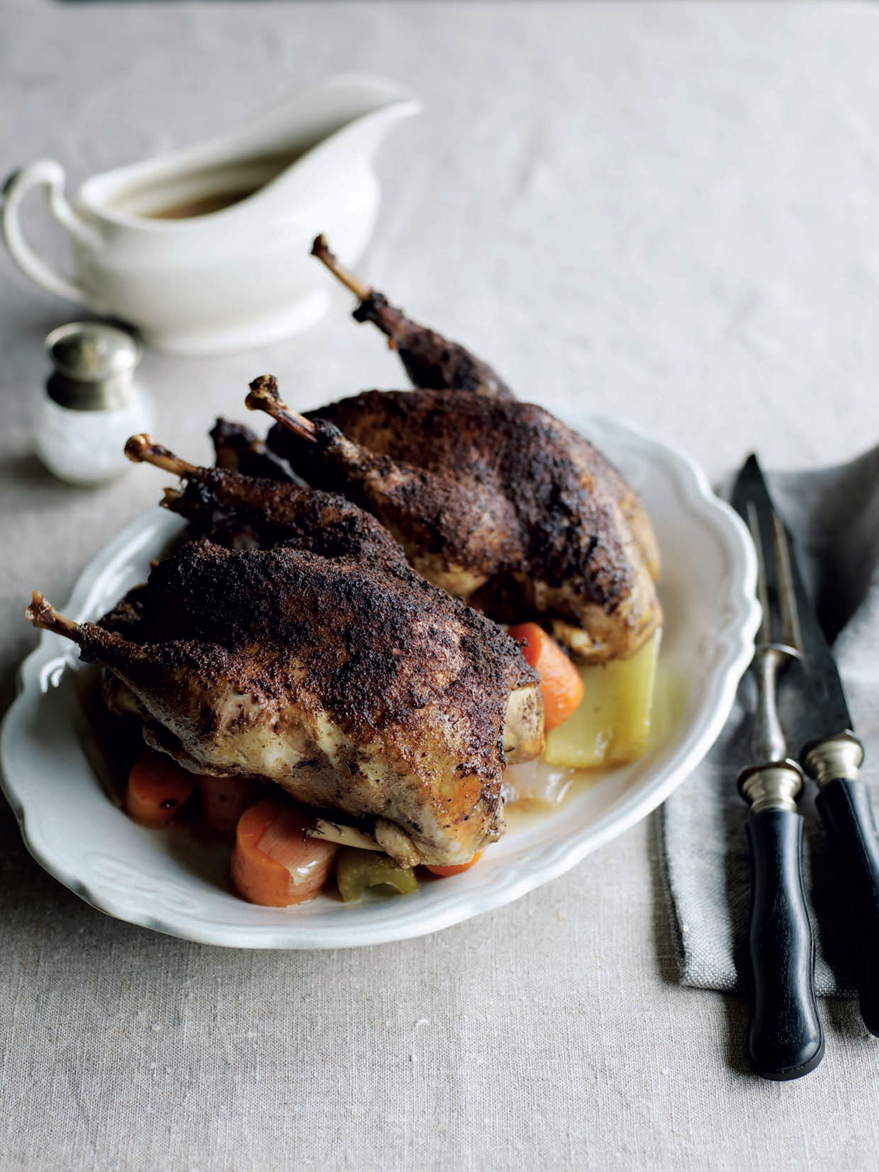 Braised pheasant with cinnamon and star anise