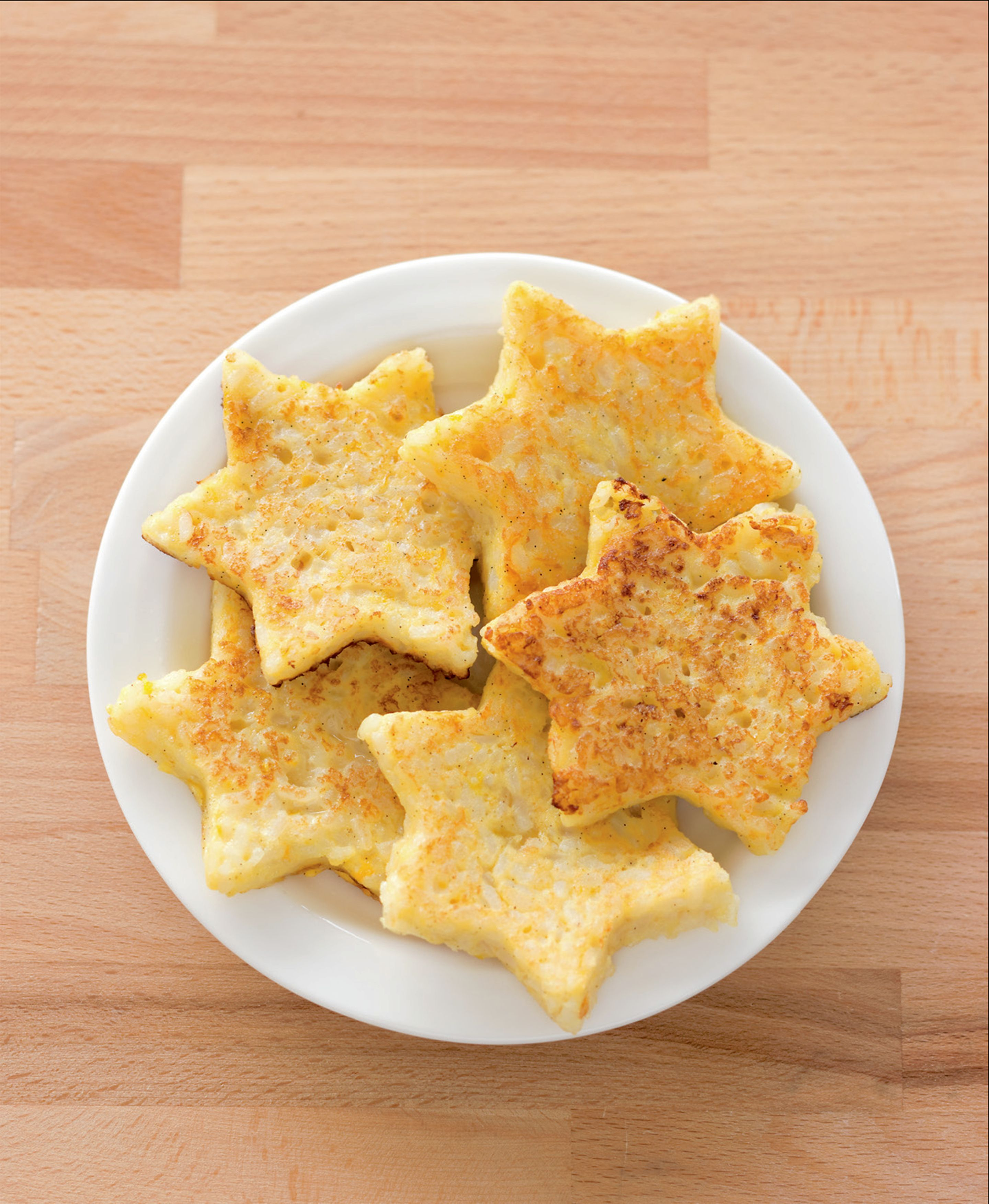 Star-shaped rice fritters