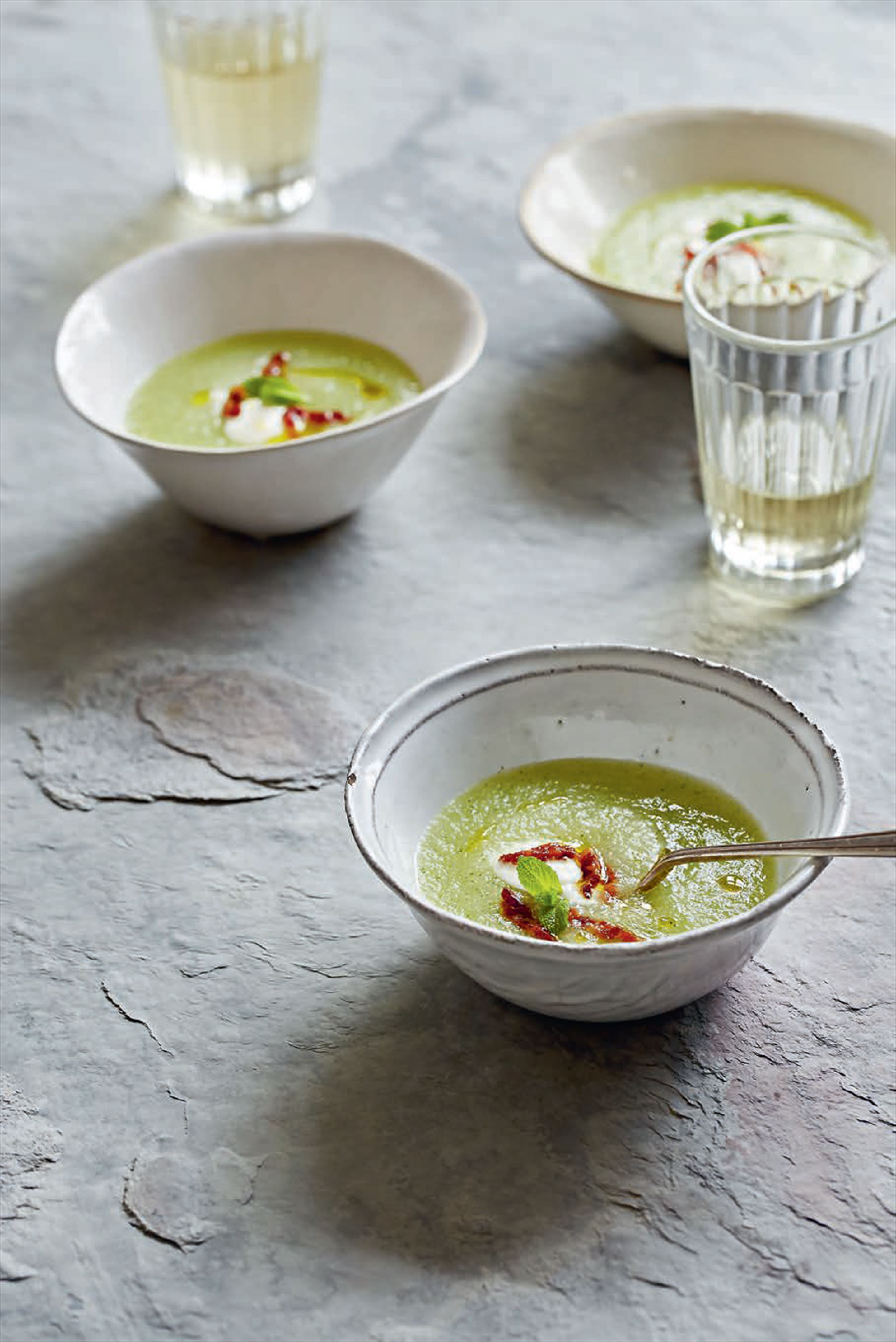 Melon & mint soup