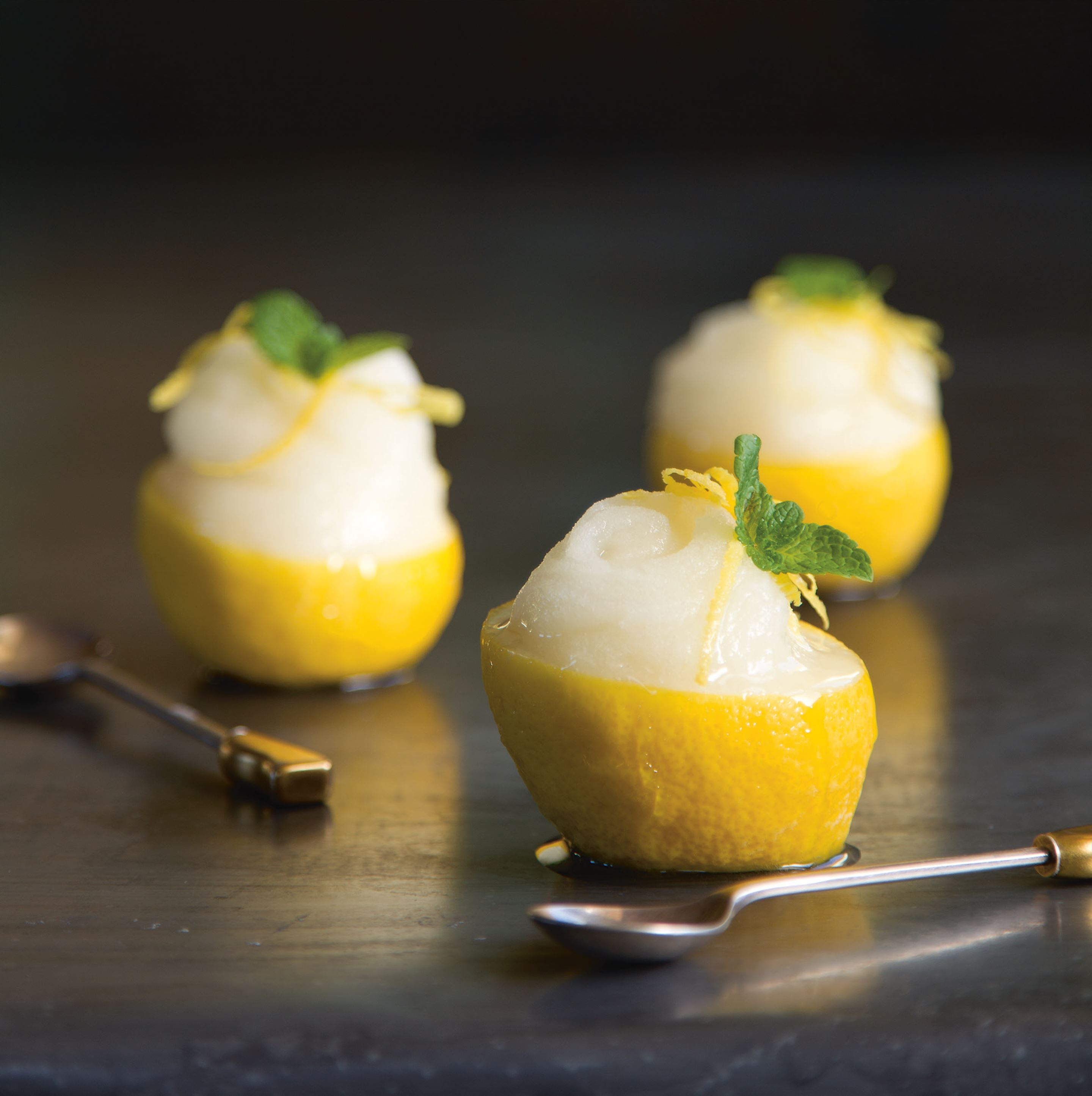 Limone and mint sorbet