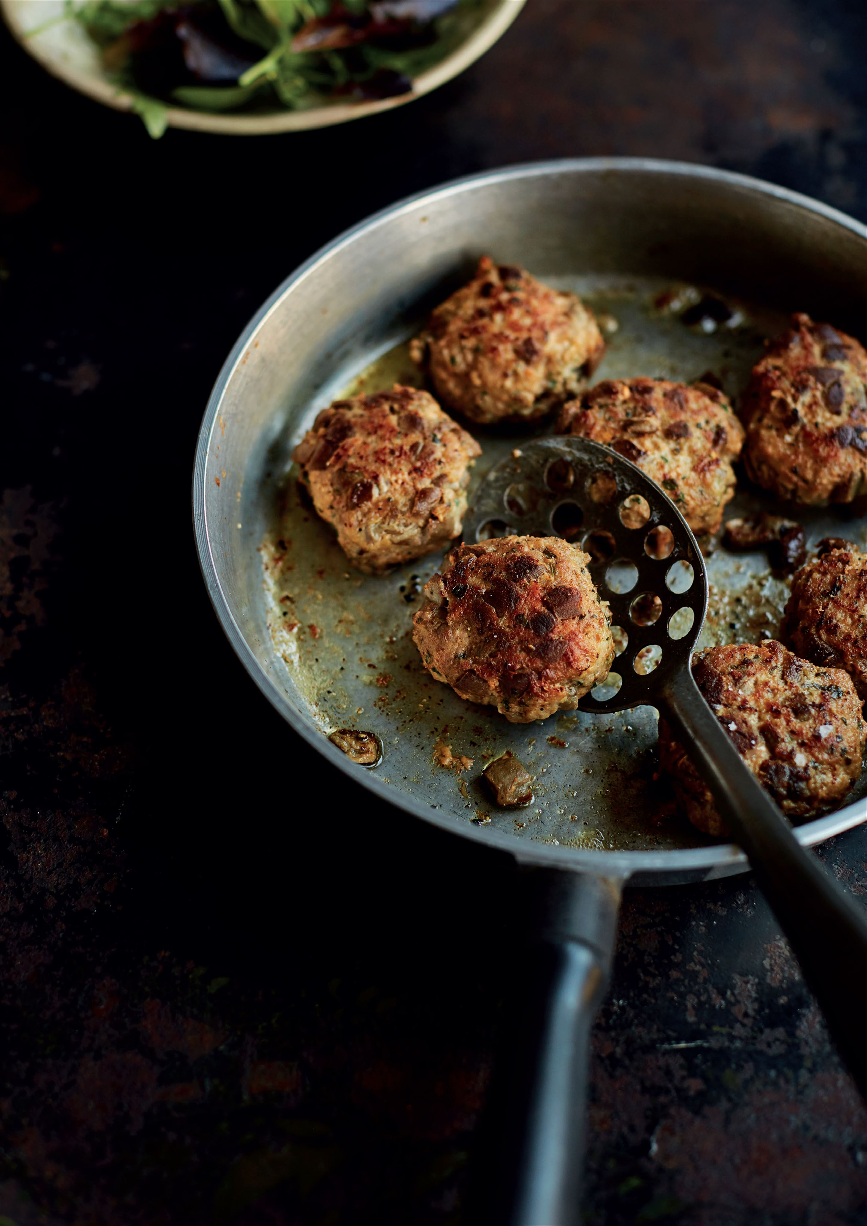 Meat and aubergine rissoles