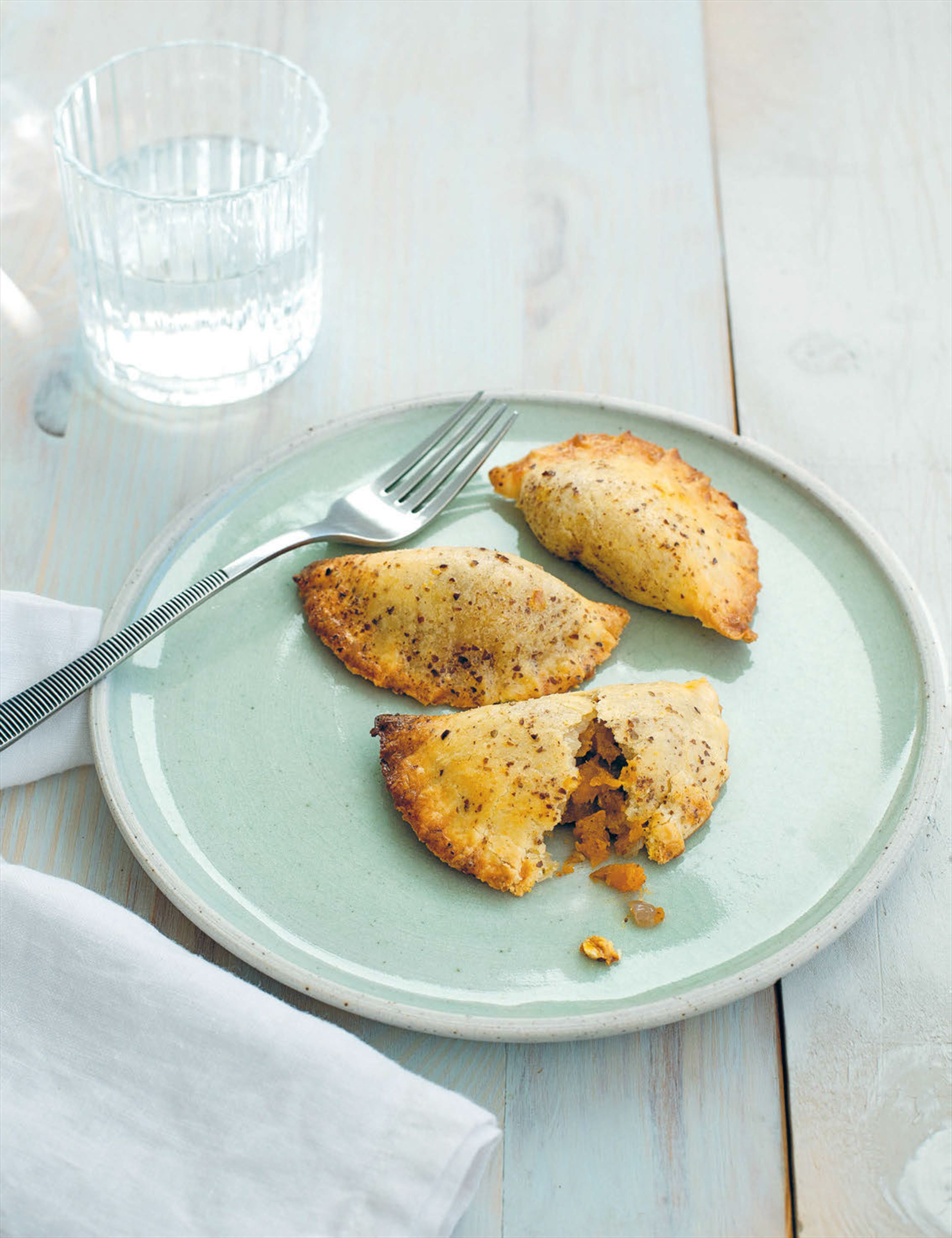 Pumpkin and sweet potato empanadas