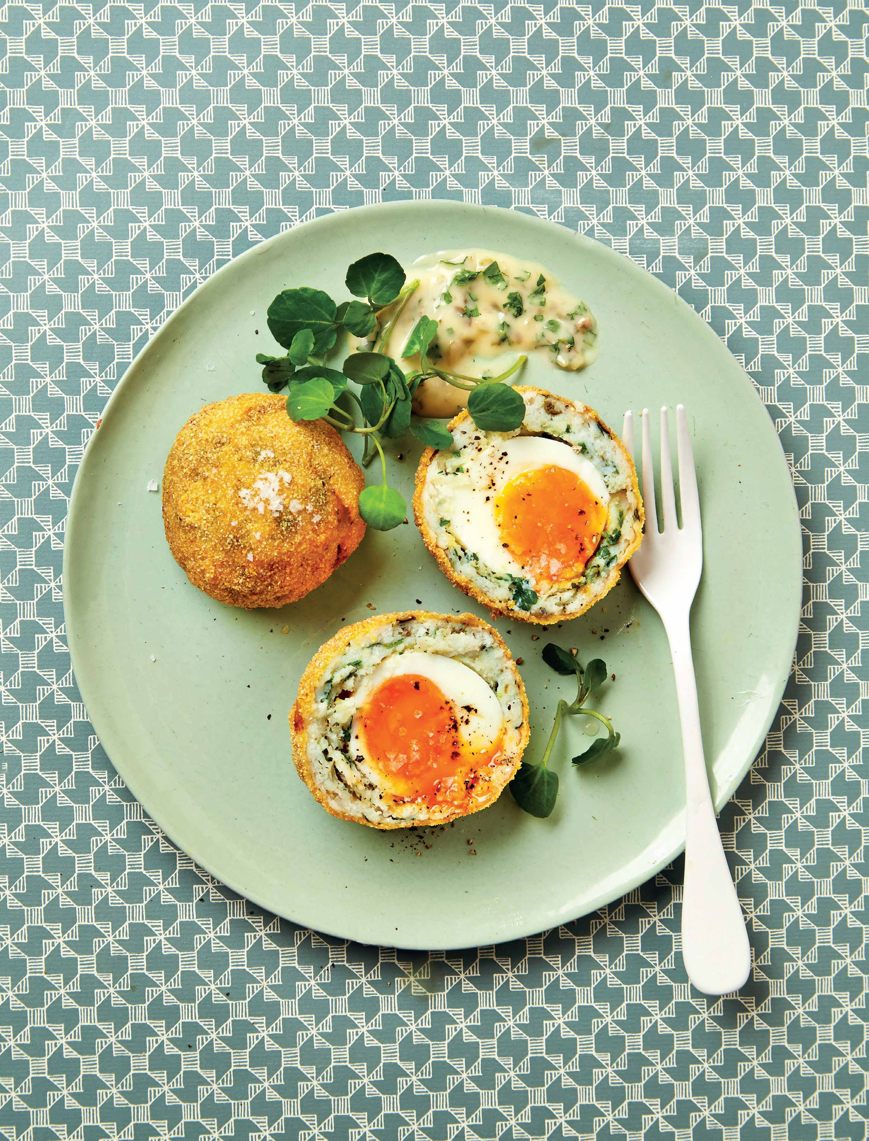 Smoked haddock scotch eggs