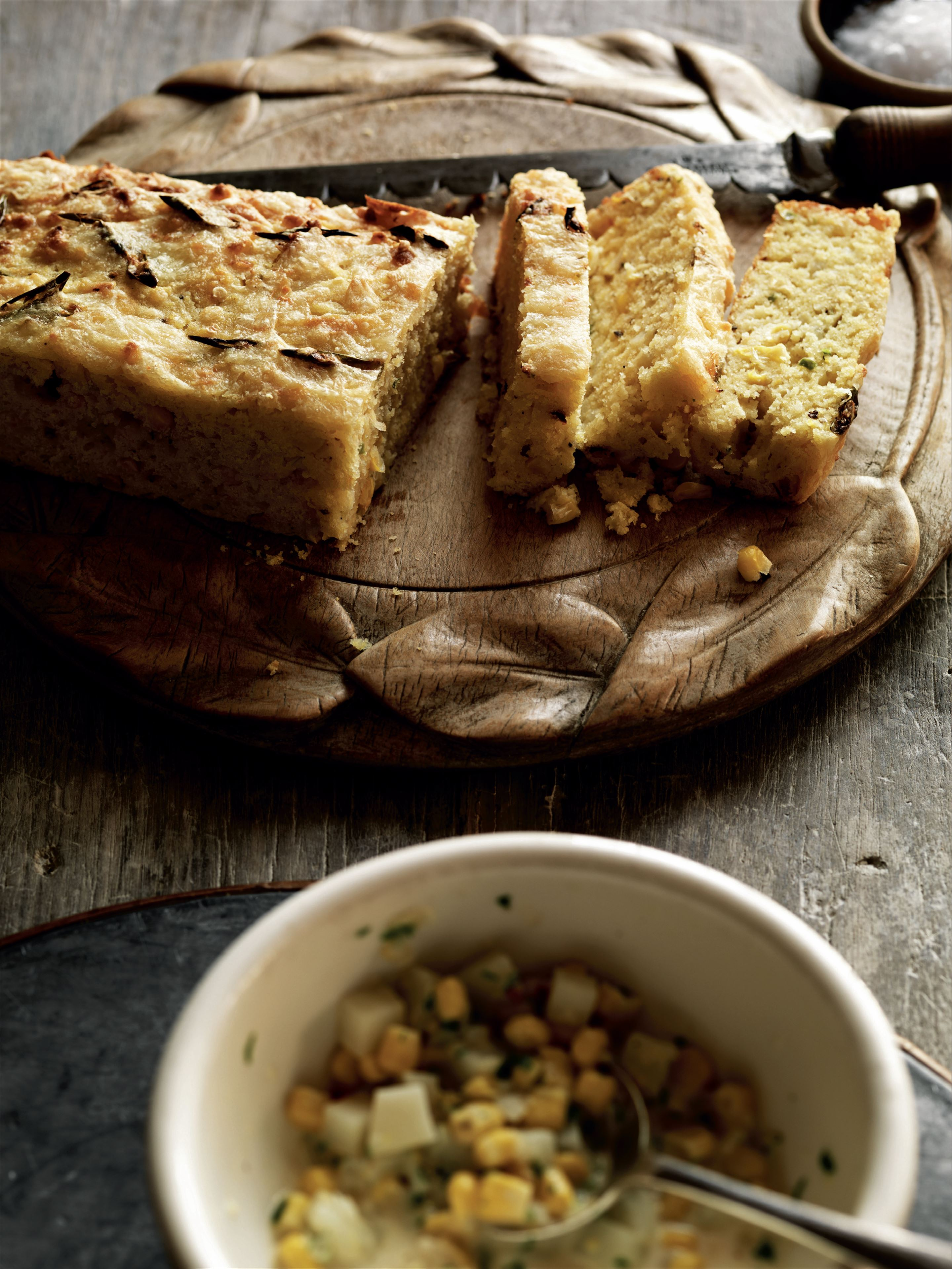 Spiced cheese cornbread