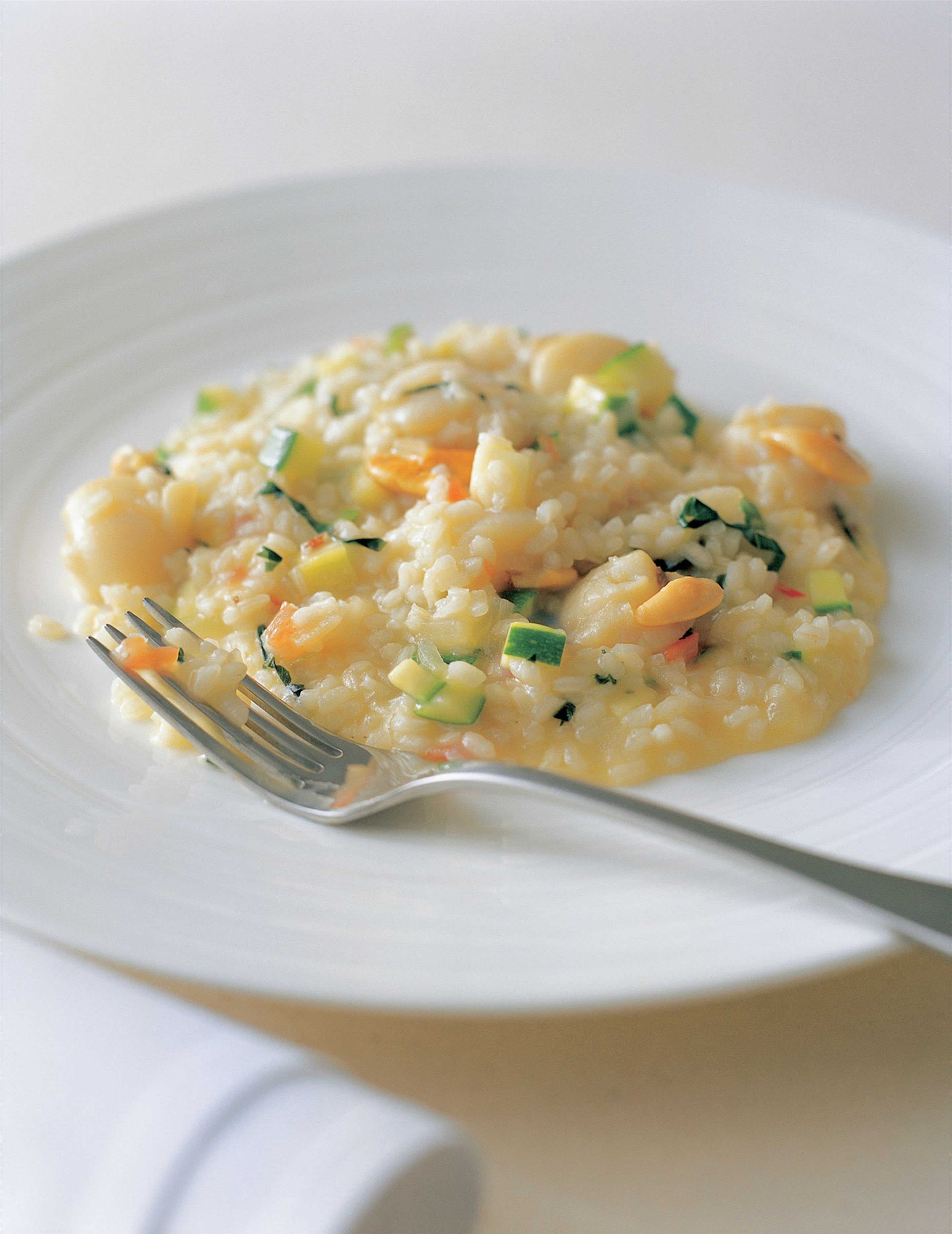 Risotto with scallops and herbs