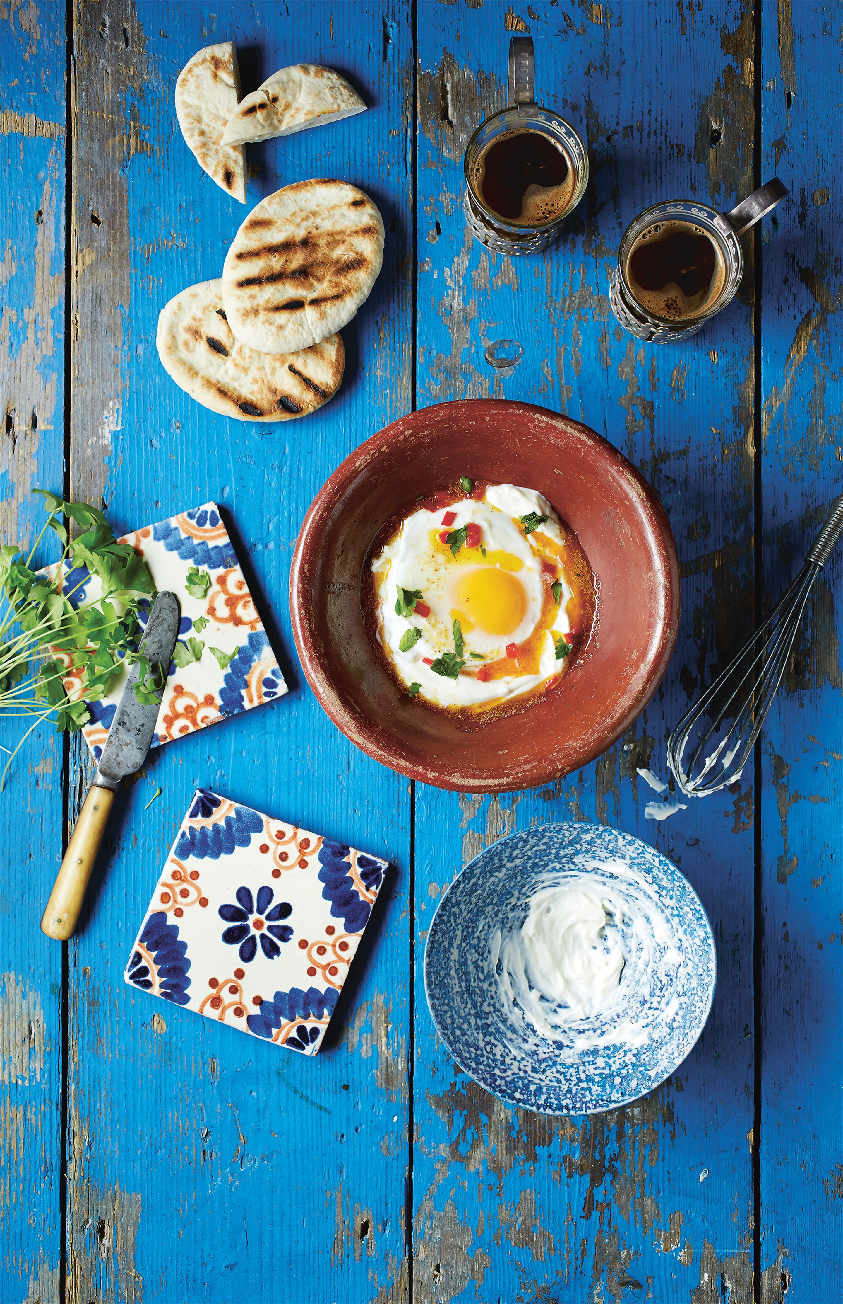 Turkish eggs, yoghurt and chilli butter