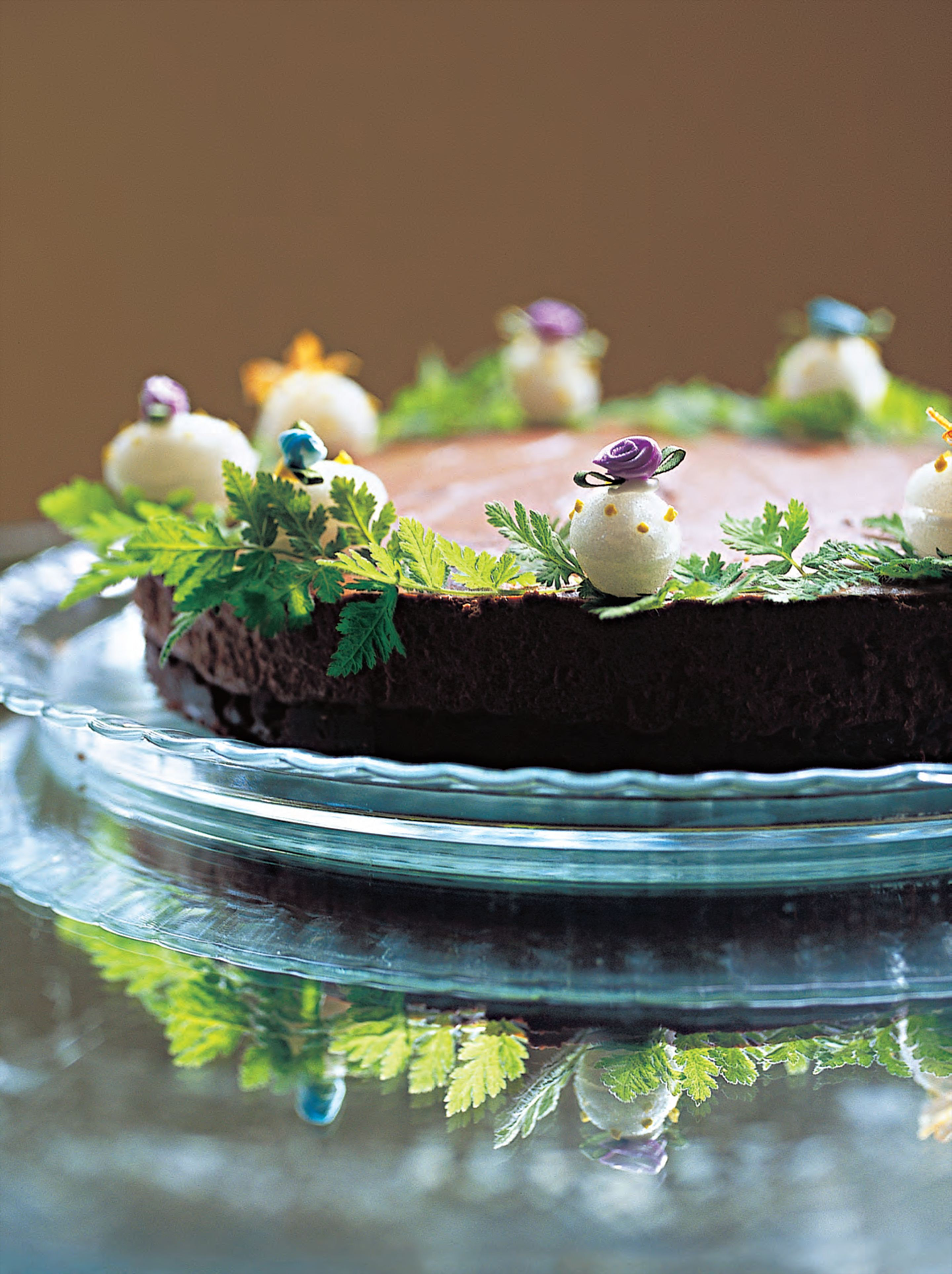 Easter chocolate truffle cake