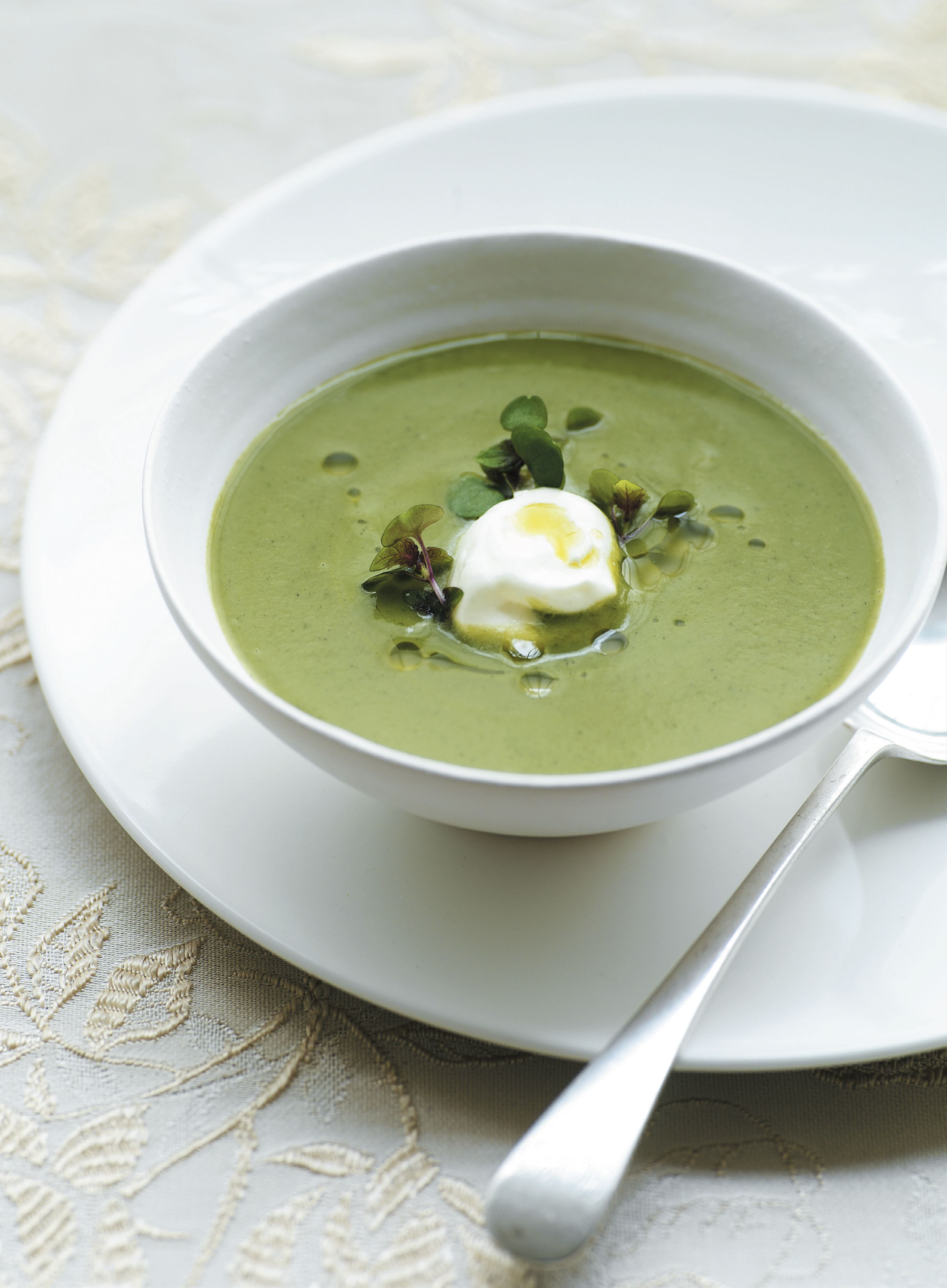 Minted split pea soup