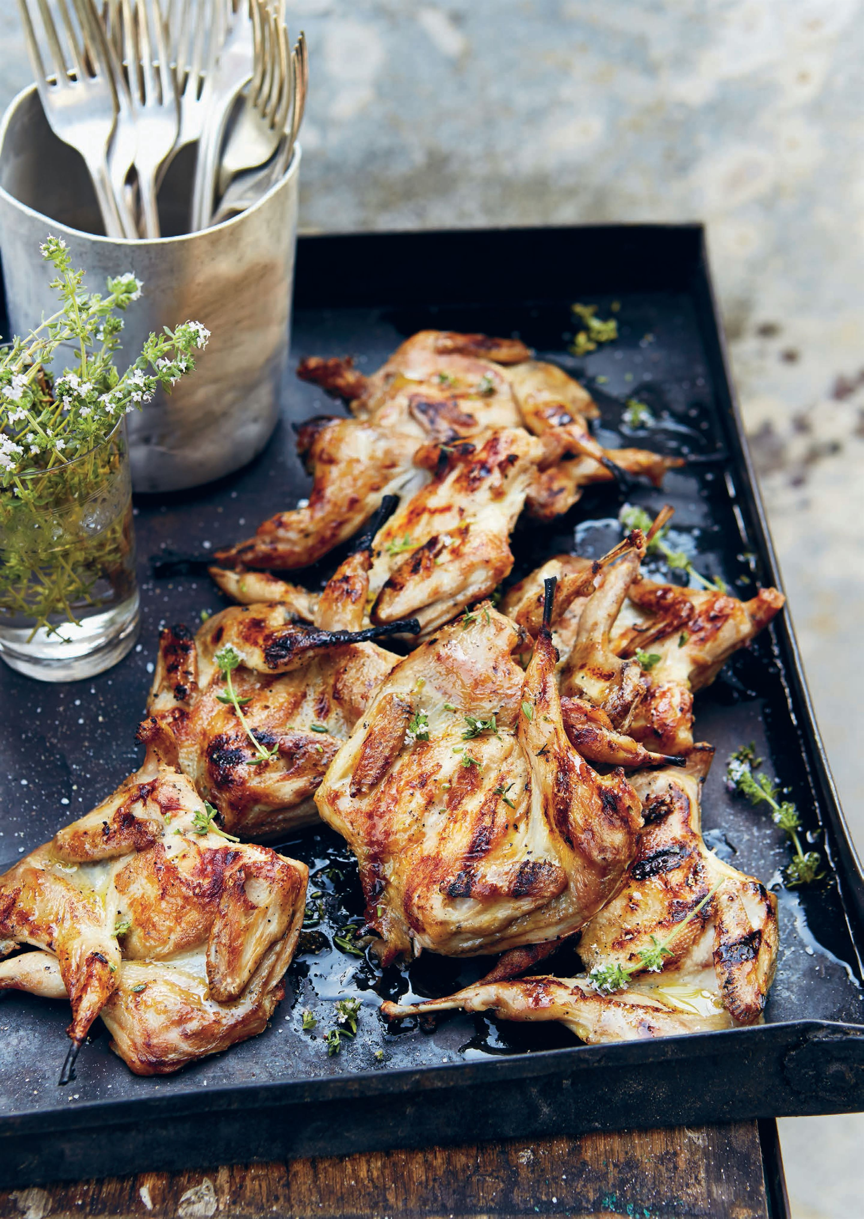 Grilled quail