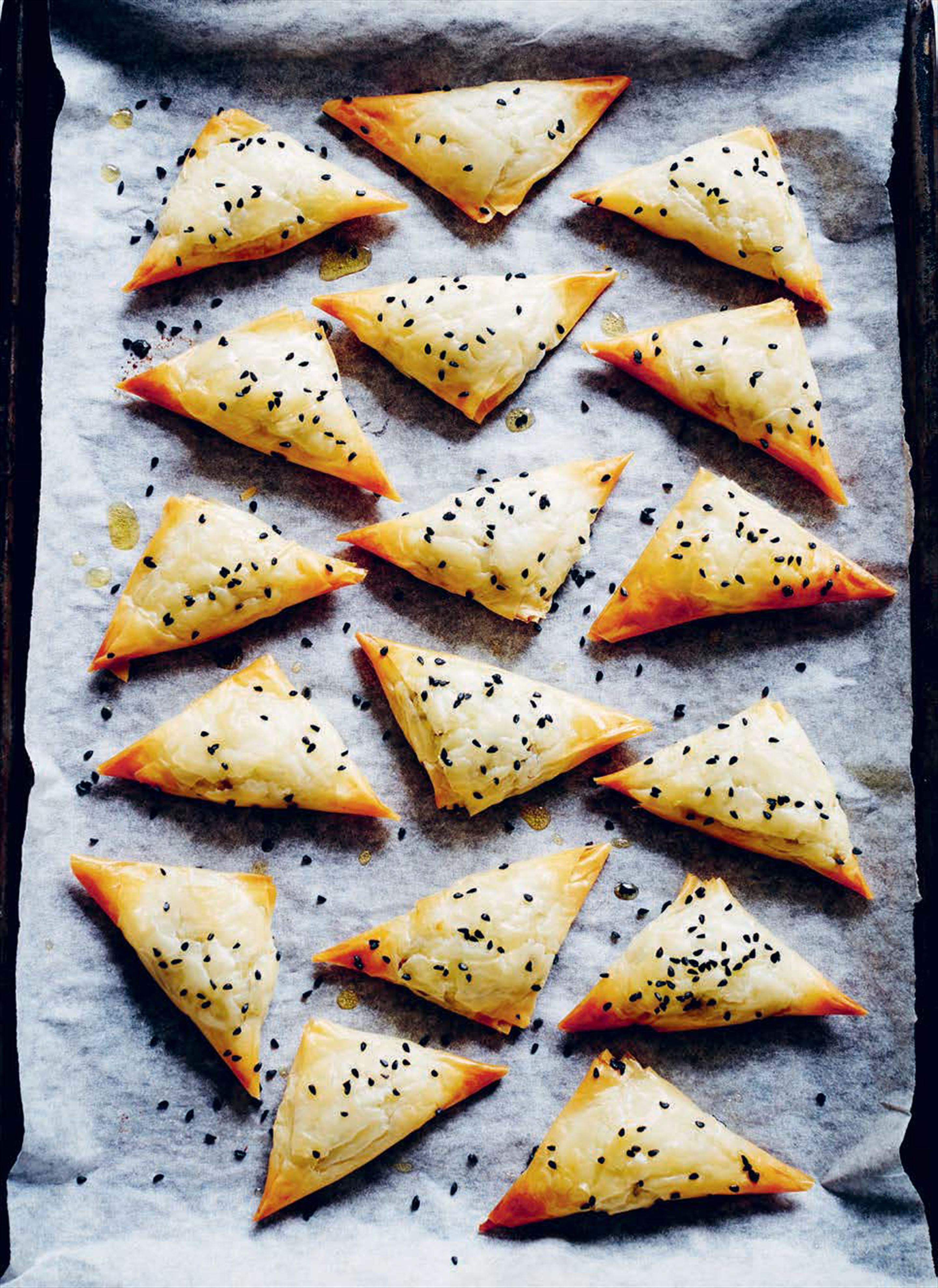 Sephardic cheese and parsley pastries