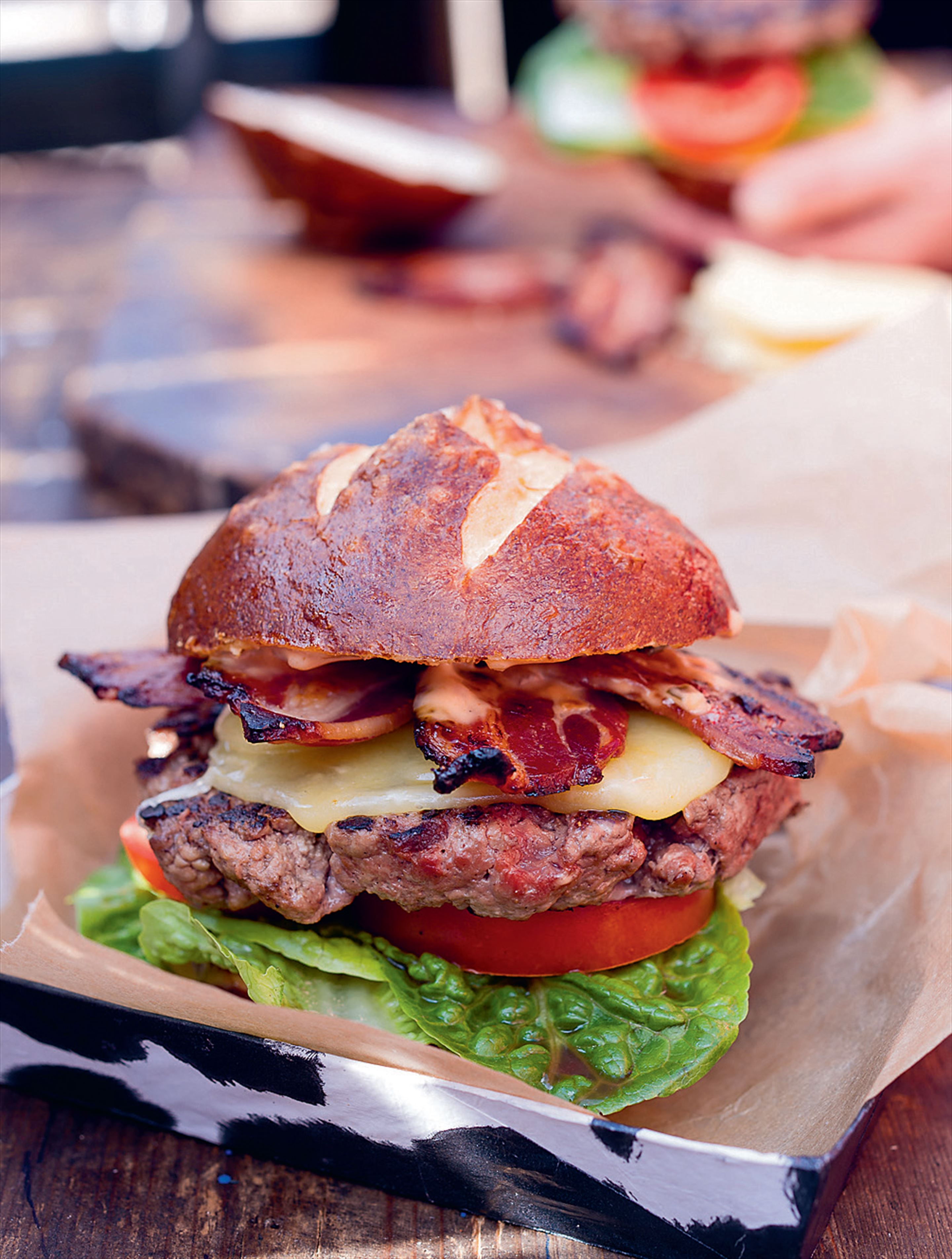 Hang Fire's AA bacon cheeseburger