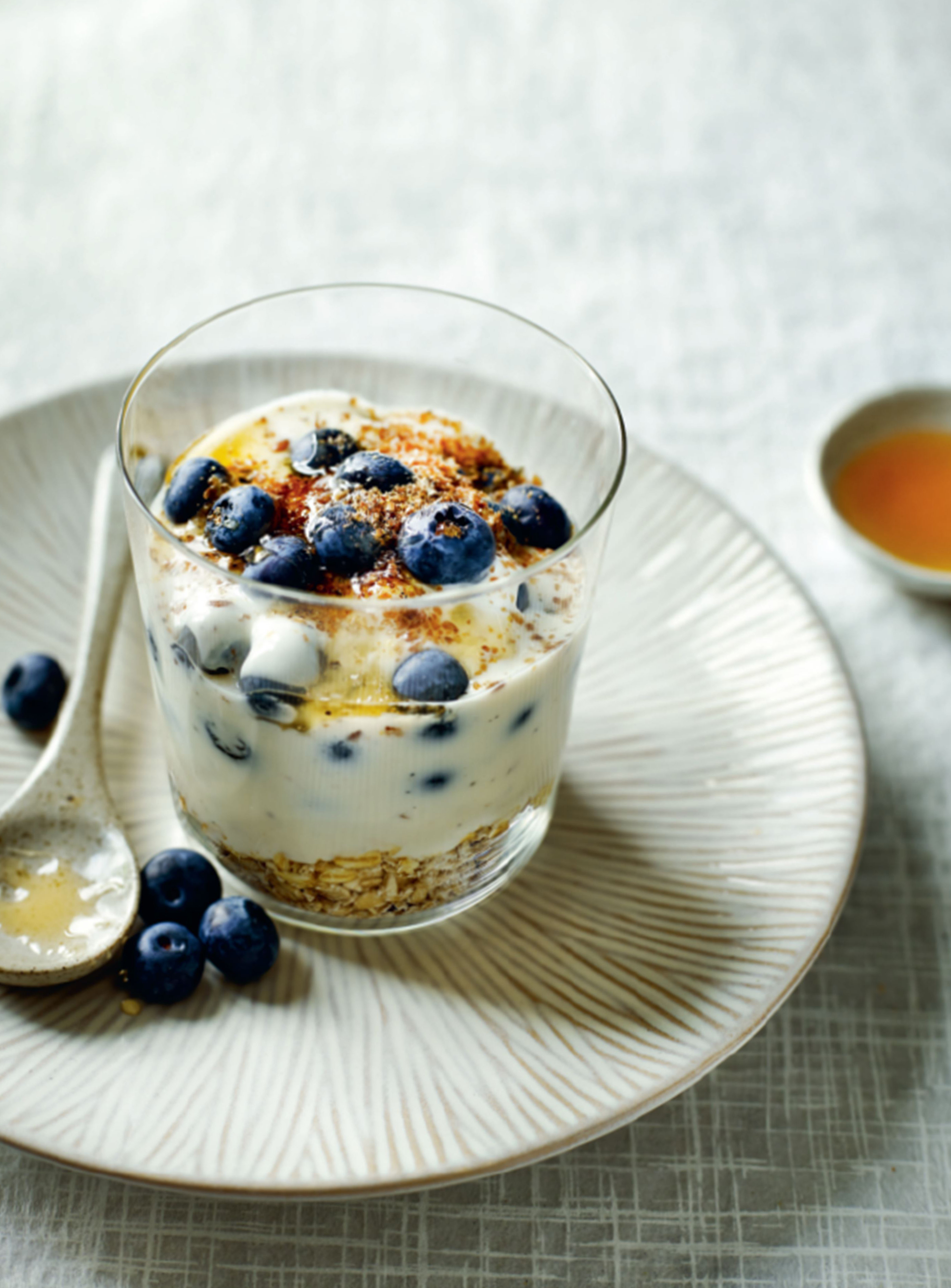 Cardamom spiced yogurt parfait