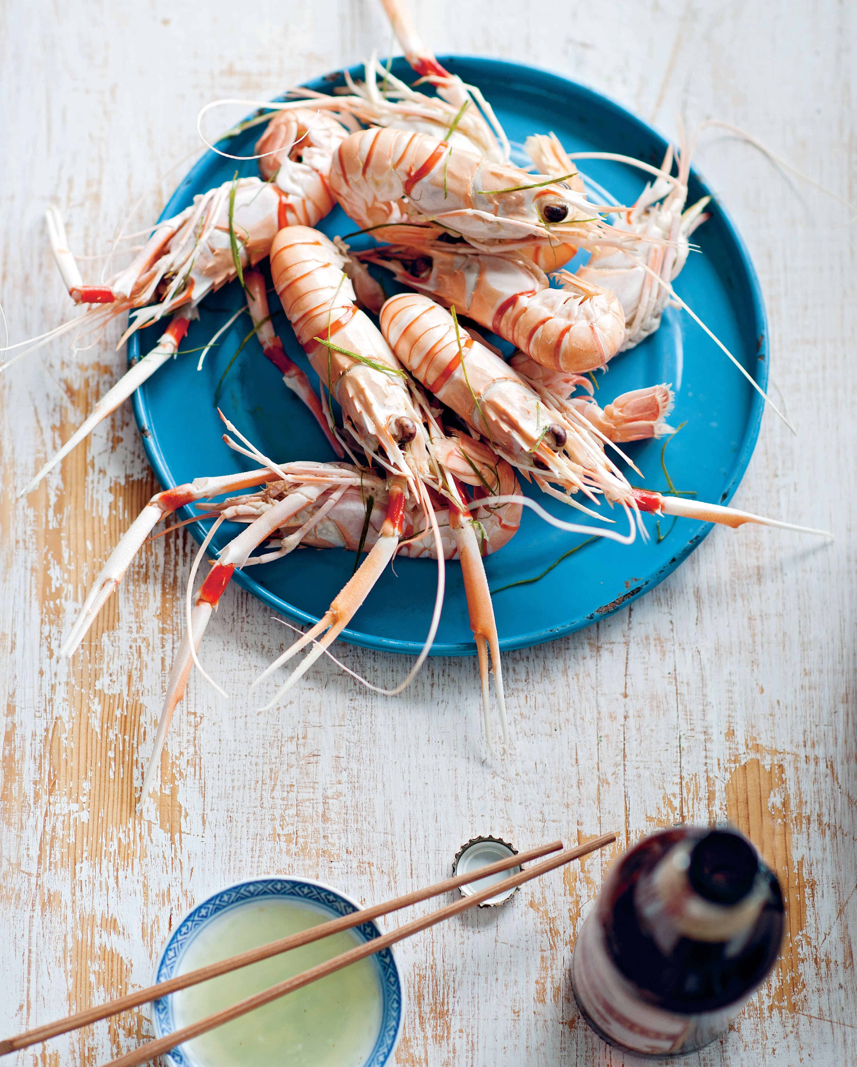 Mantis prawns steamed in beer