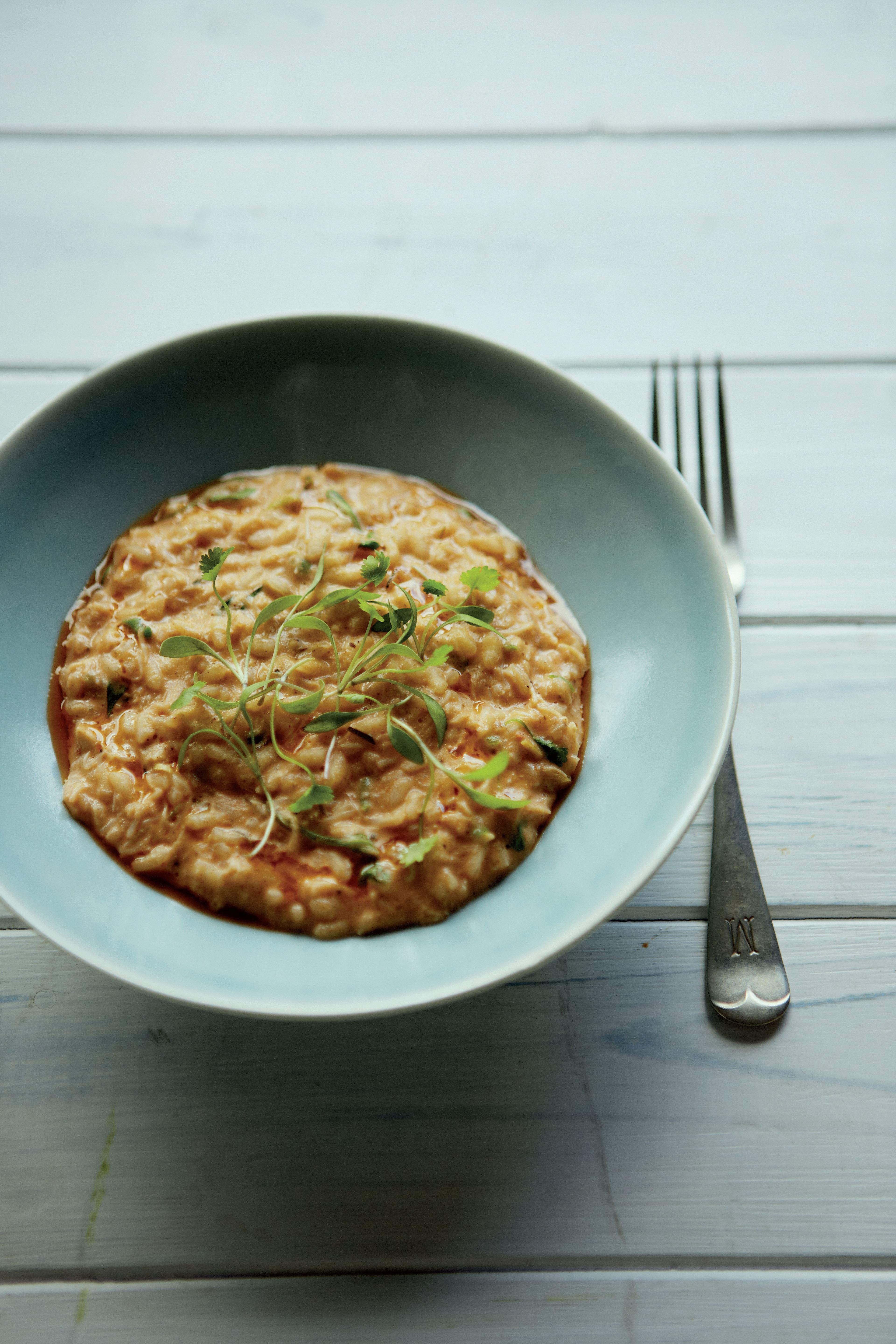 Thai crab risotto with lemon grass and kaffir lime