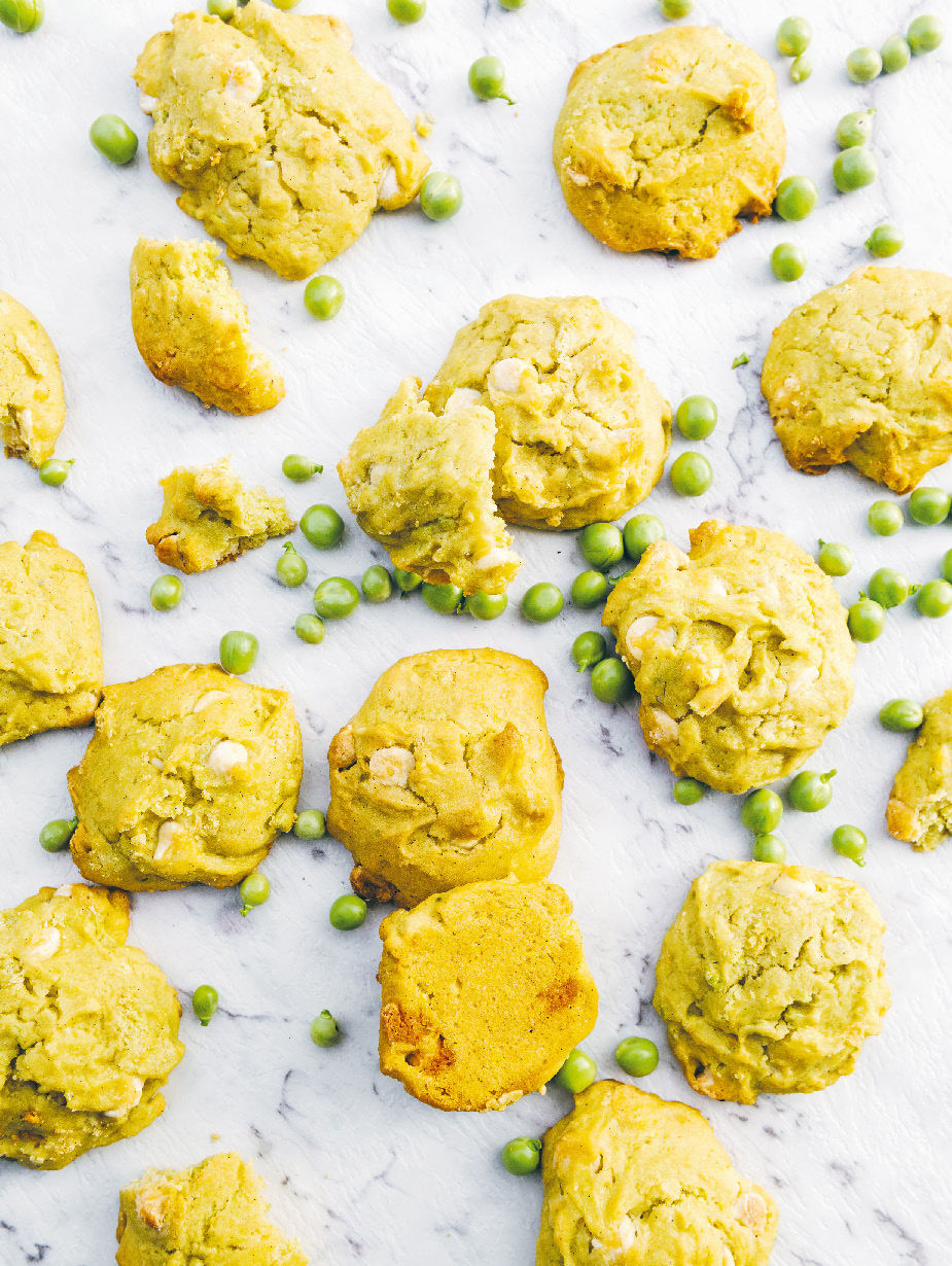 Avocado and pea cookies