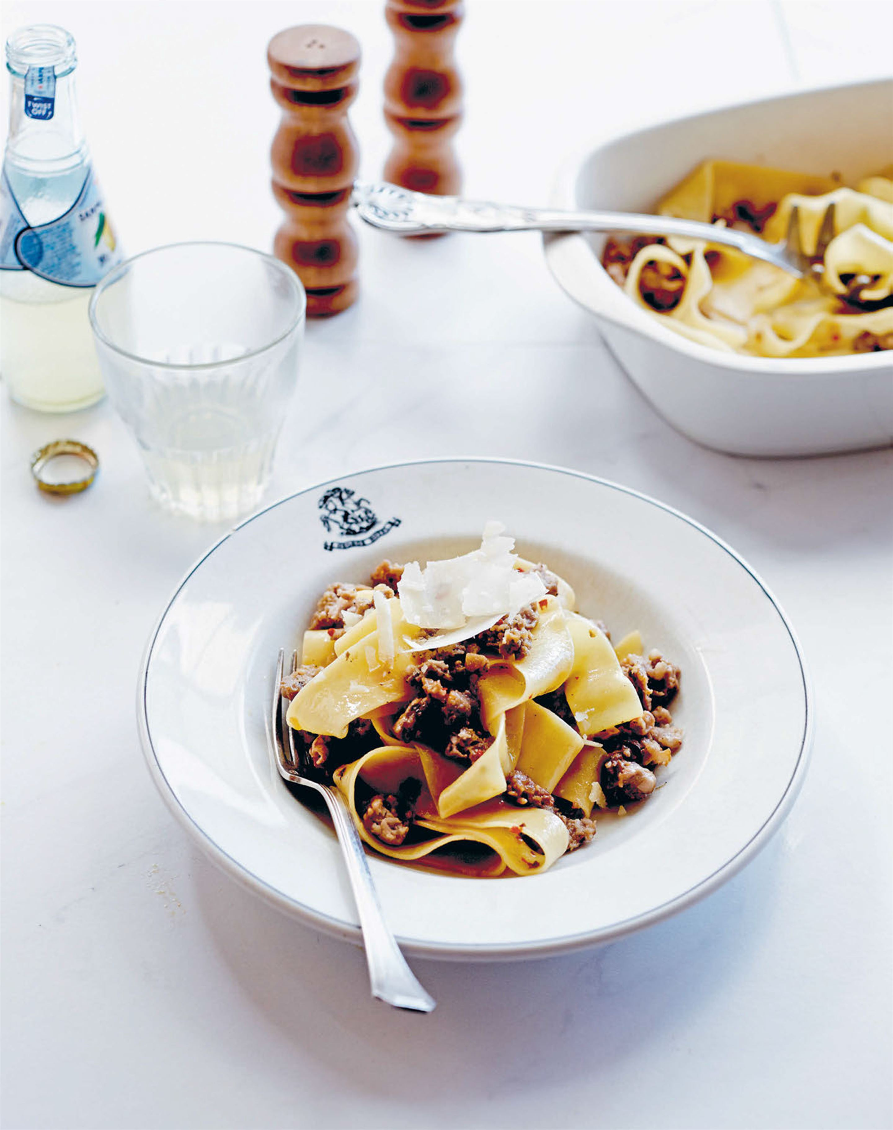 Sausage, porcini and fennel seed ragu pappardelle