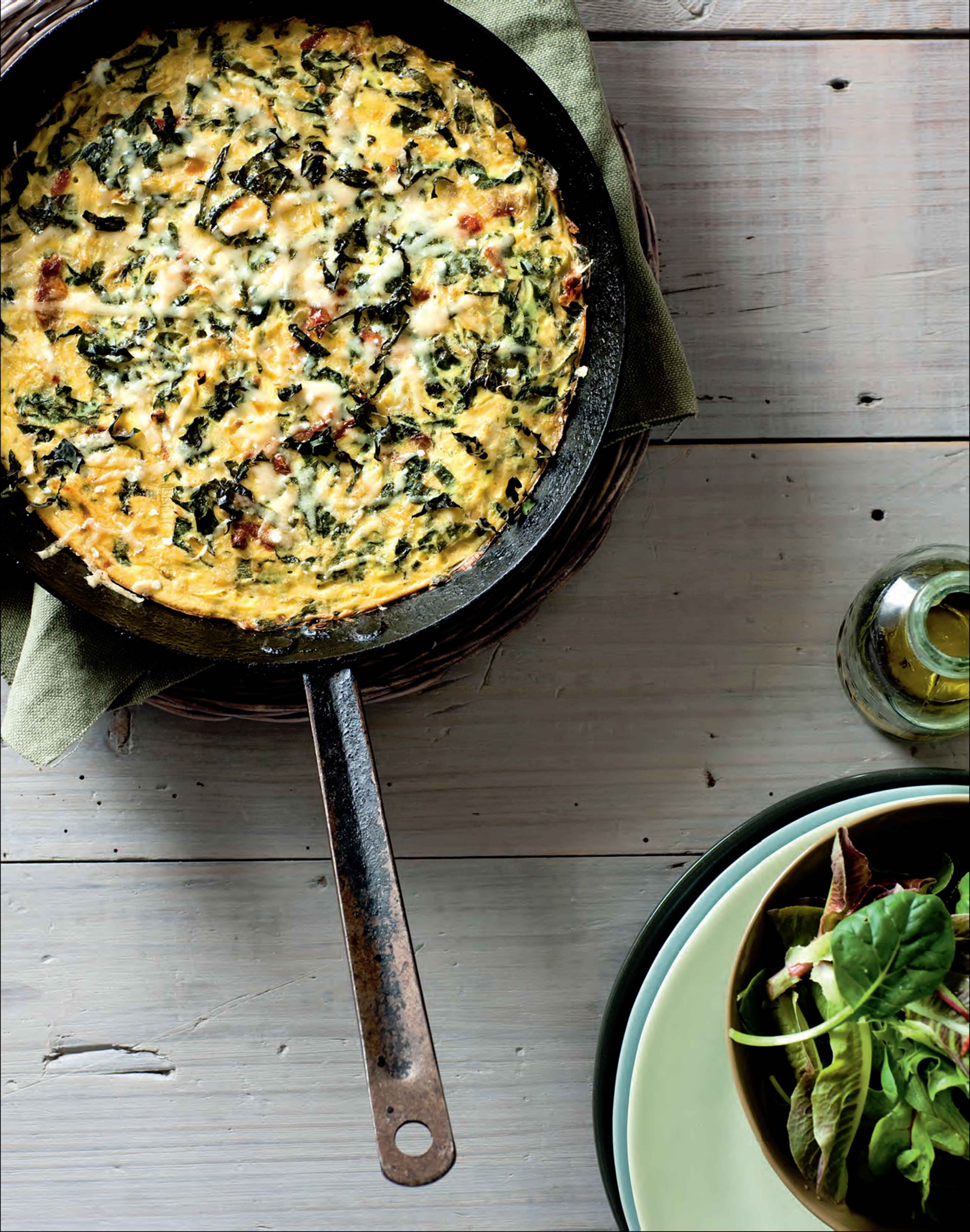 Silverbeet and sundried tomato frittata