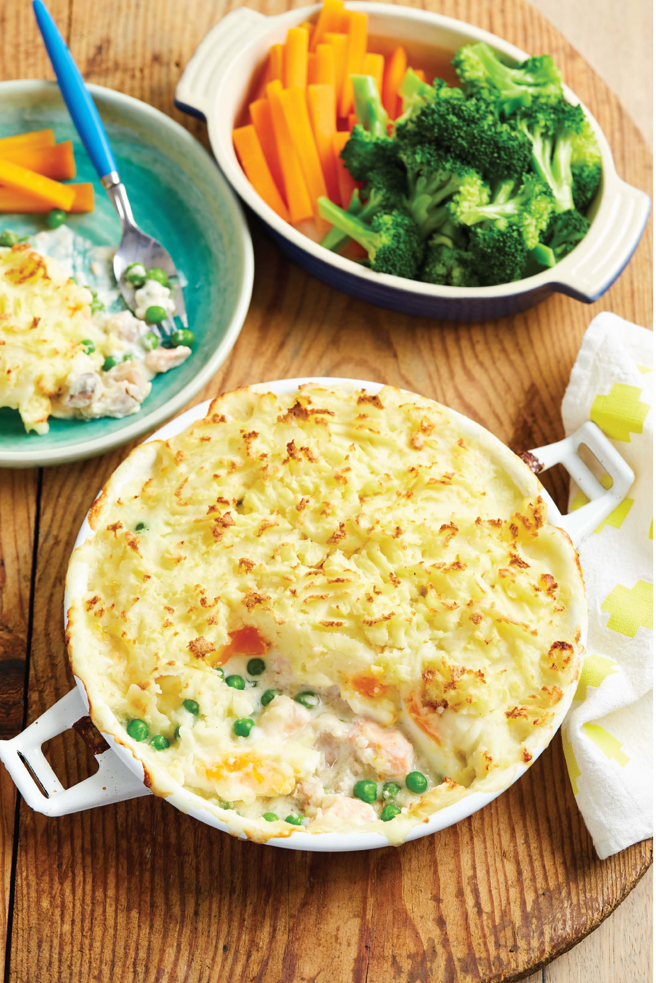 Lulu's fish pie with peas