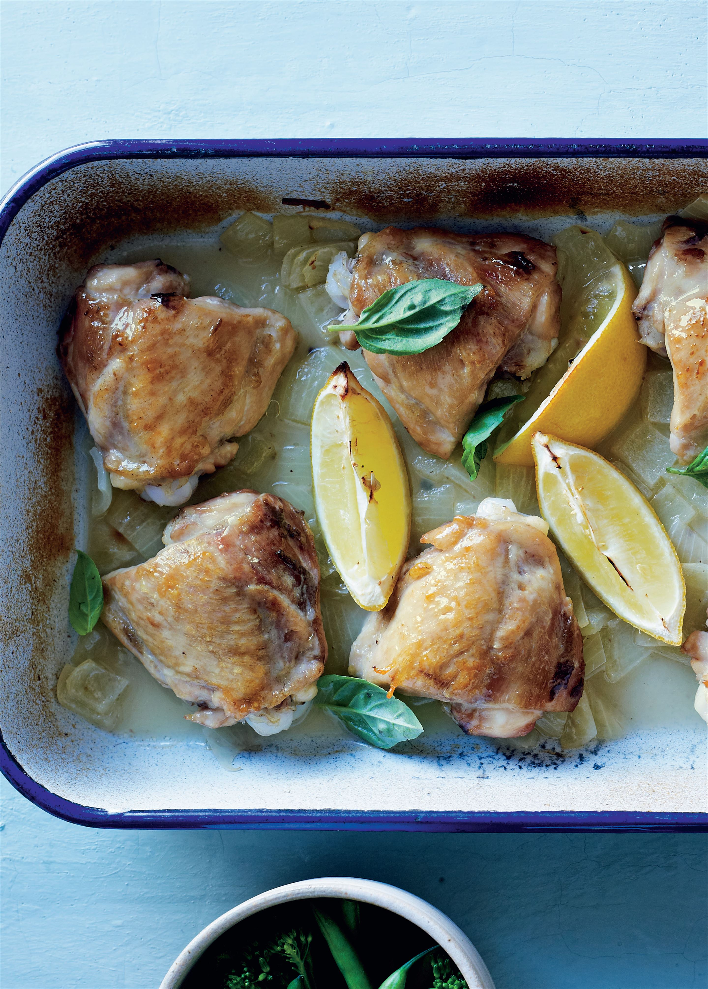 Chicken with lemon and basil