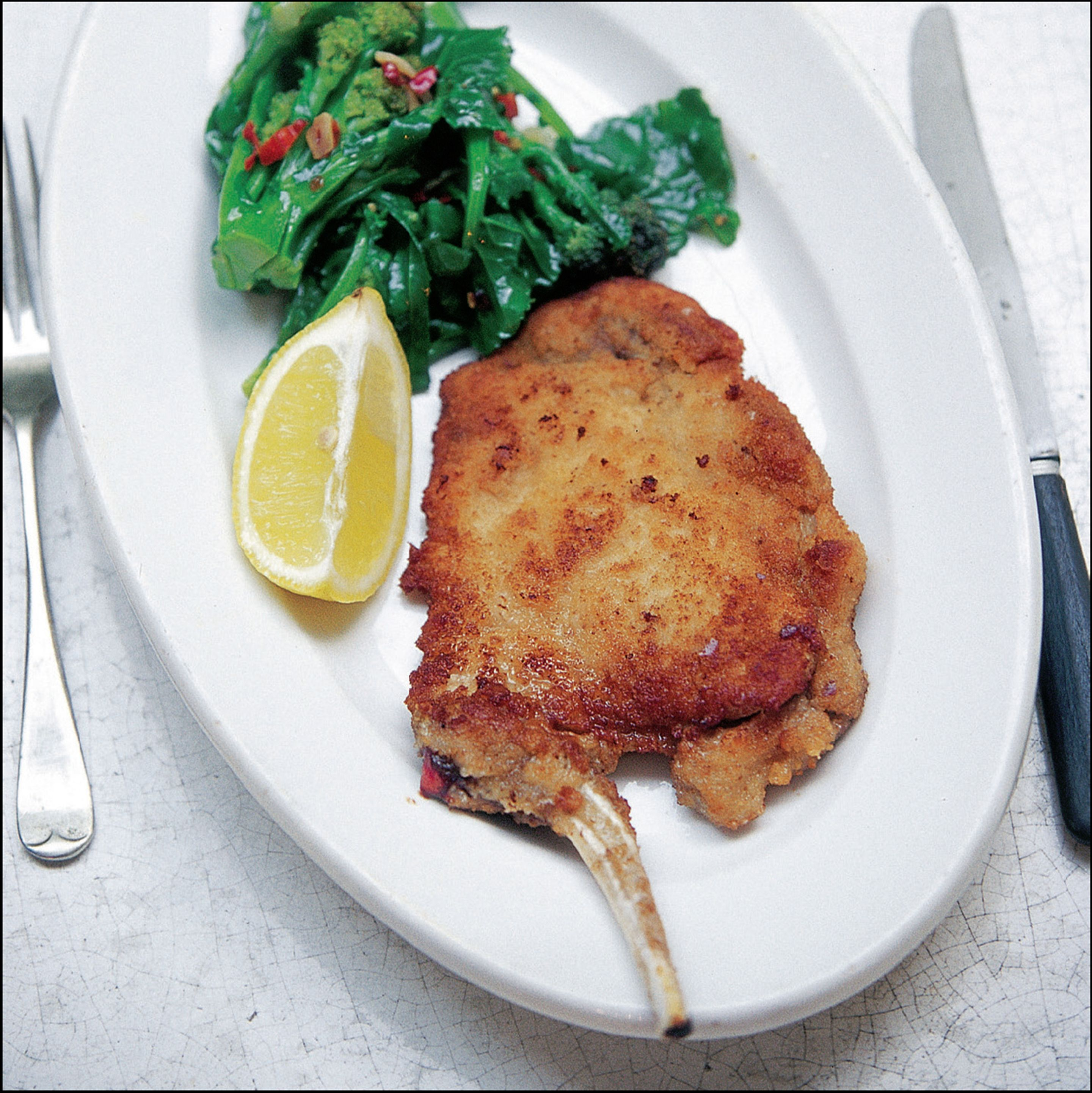 Milanese breaded pork cutlet